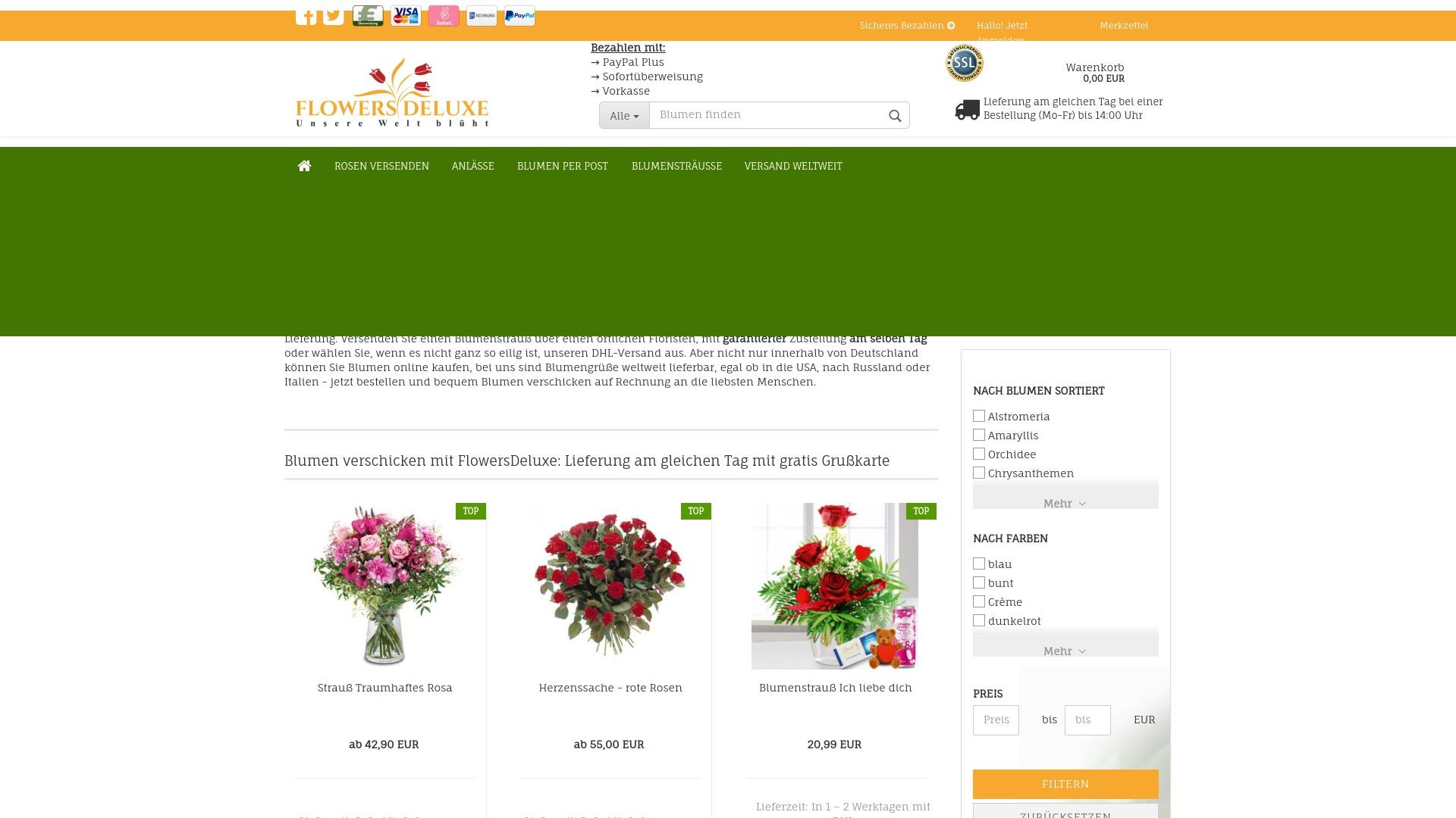Gutschein für Flowers-deluxe: Rabatte für  Flowers-deluxe sichern