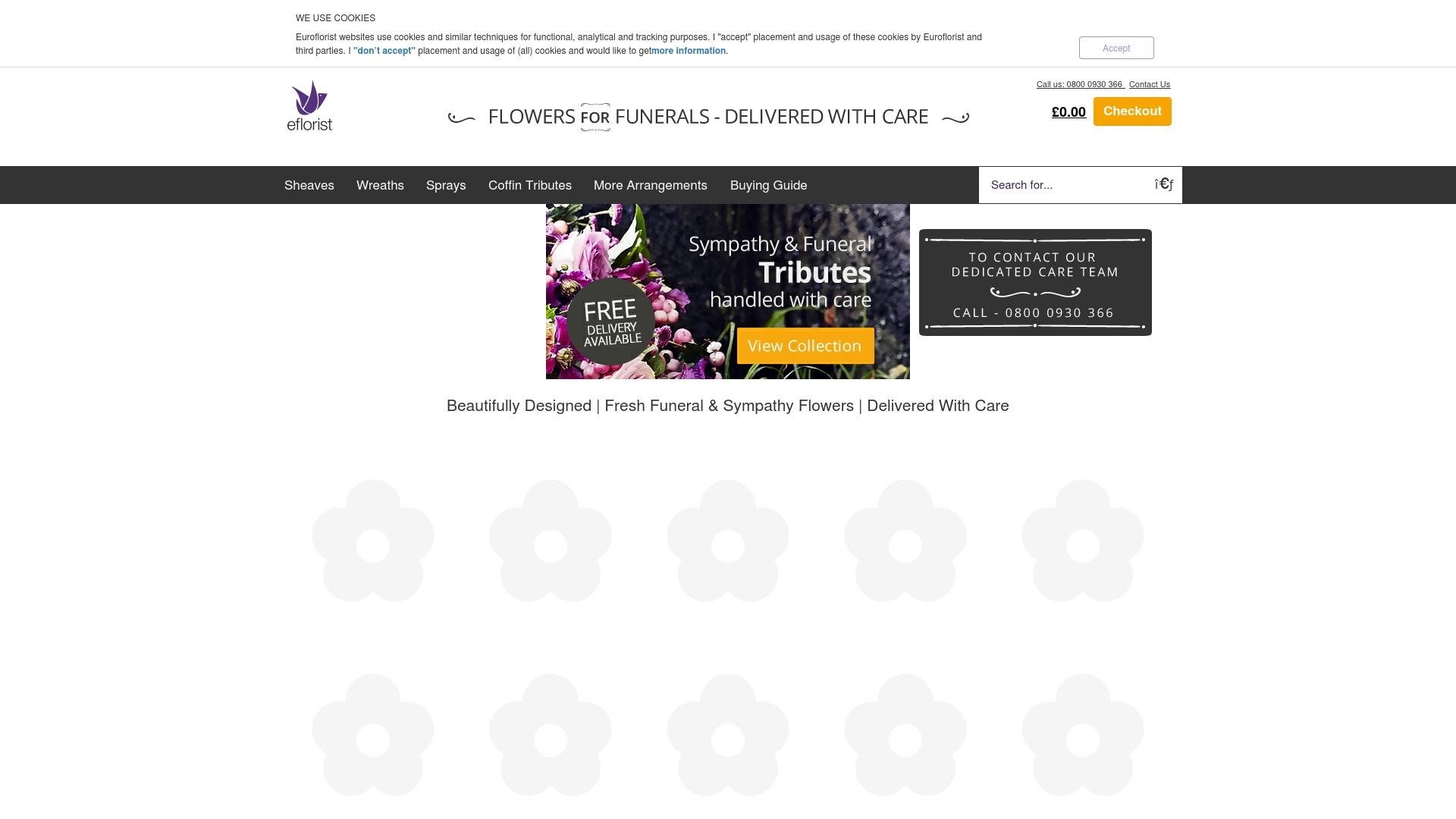 Gutschein für Flowersforfunerals: Rabatte für  Flowersforfunerals sichern