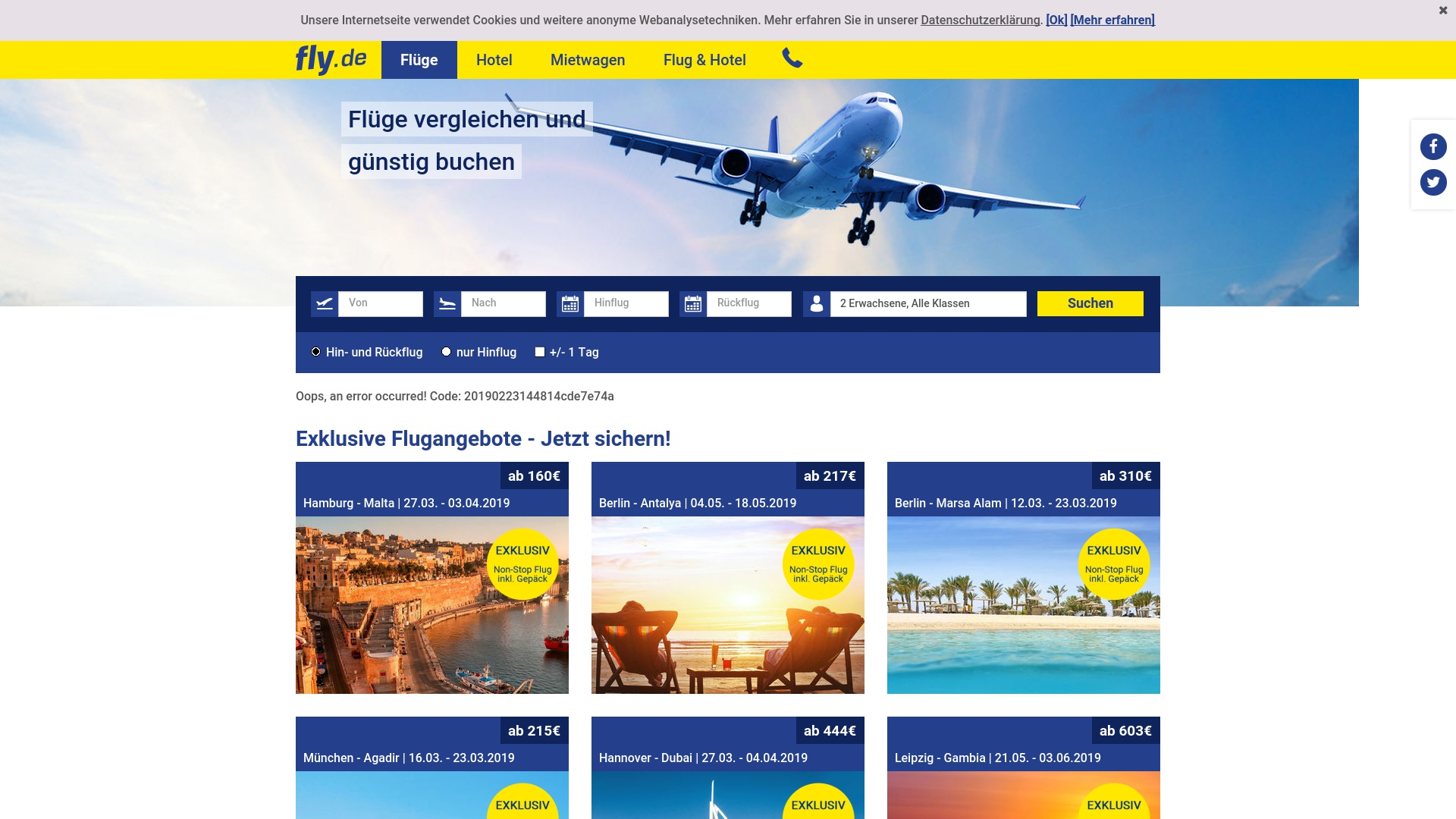 Gutschein für Fly: Rabatte für  Fly sichern