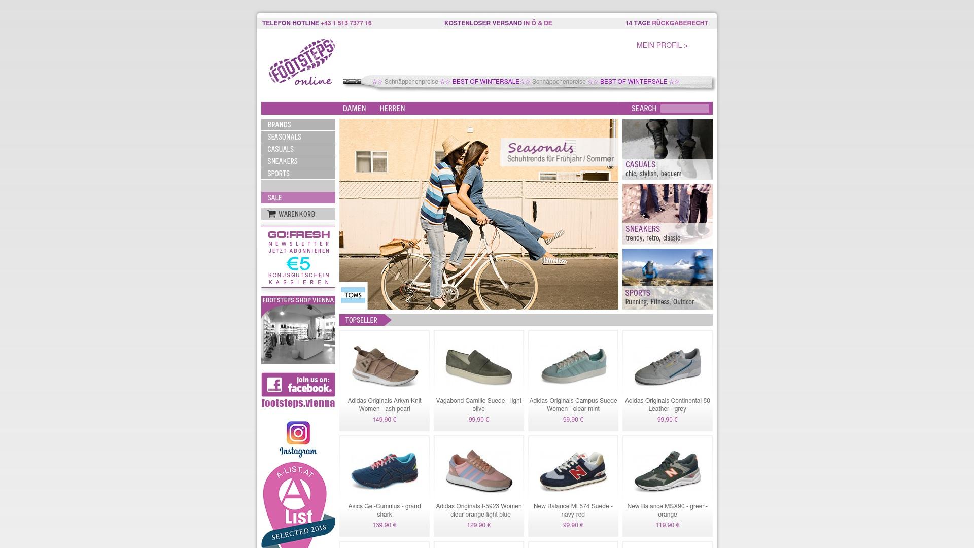 Gutschein für Footsteps: Rabatte für  Footsteps sichern