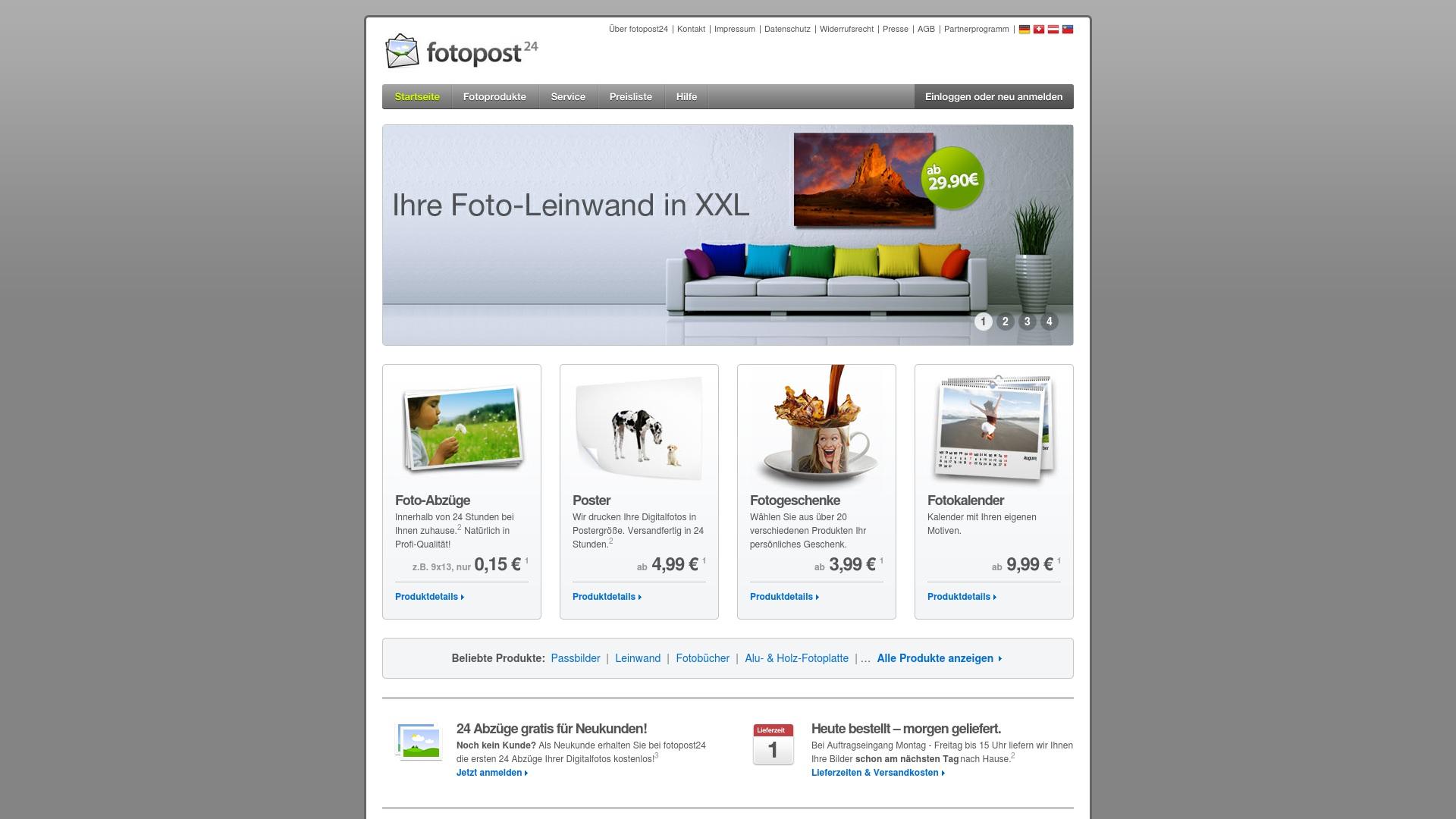 Gutschein für Fotopost24: Rabatte für  Fotopost24 sichern