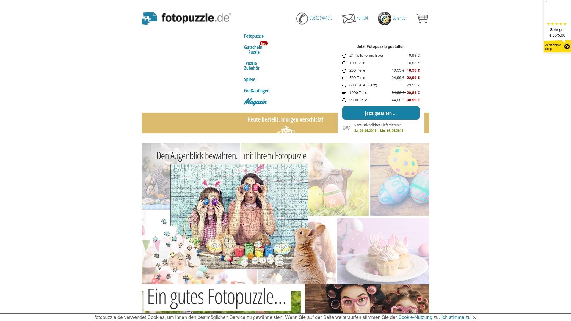 Gutschein für Fotopuzzle: Rabatte für  Fotopuzzle sichern