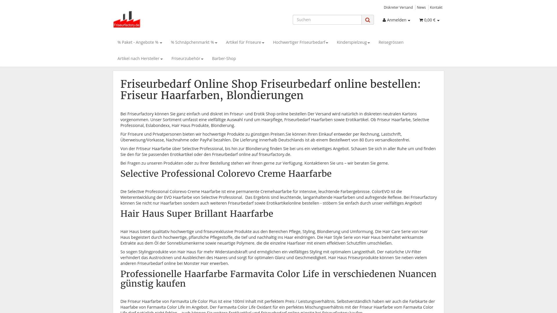 Gutschein für Friseurfactory: Rabatte für  Friseurfactory sichern