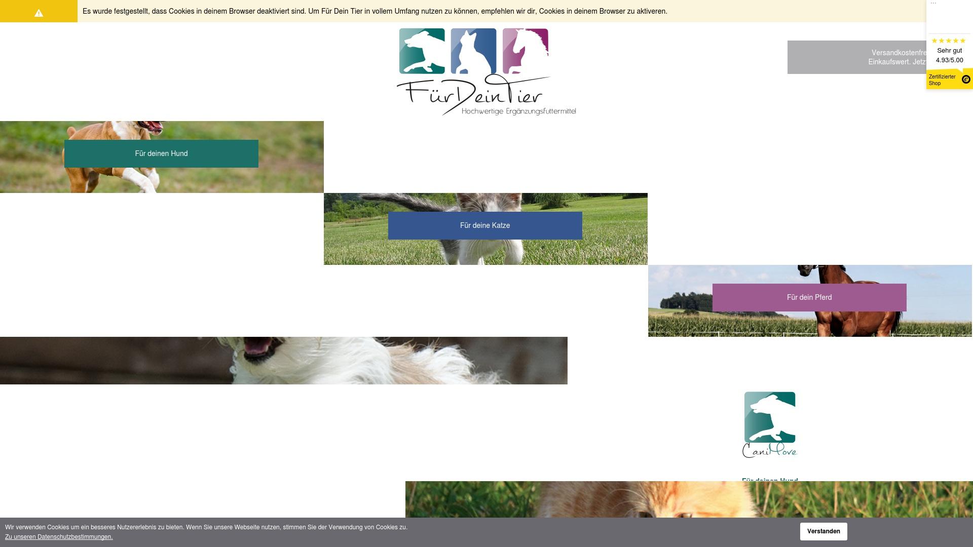 Gutschein für Fuerdeintier: Rabatte für  Fuerdeintier sichern