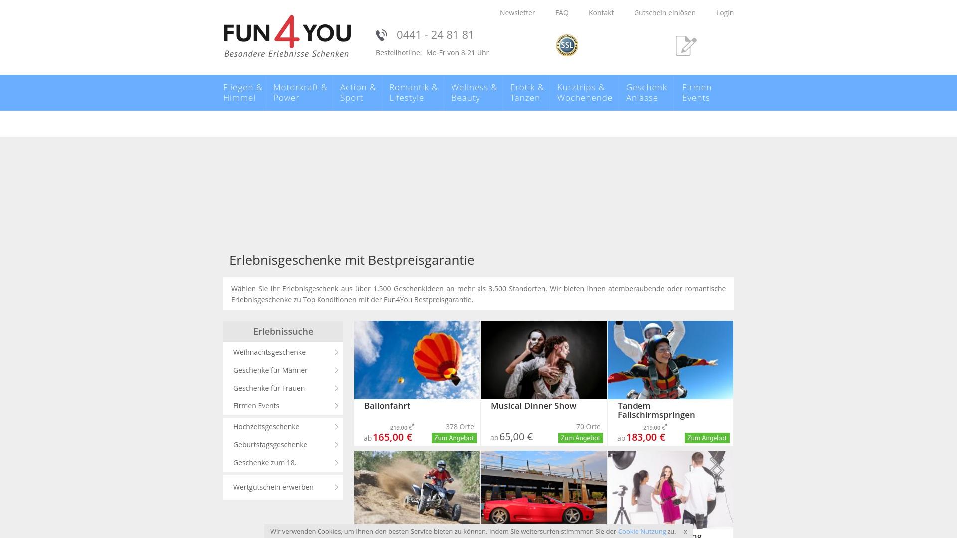 Gutschein für Fun4you: Rabatte für  Fun4you sichern