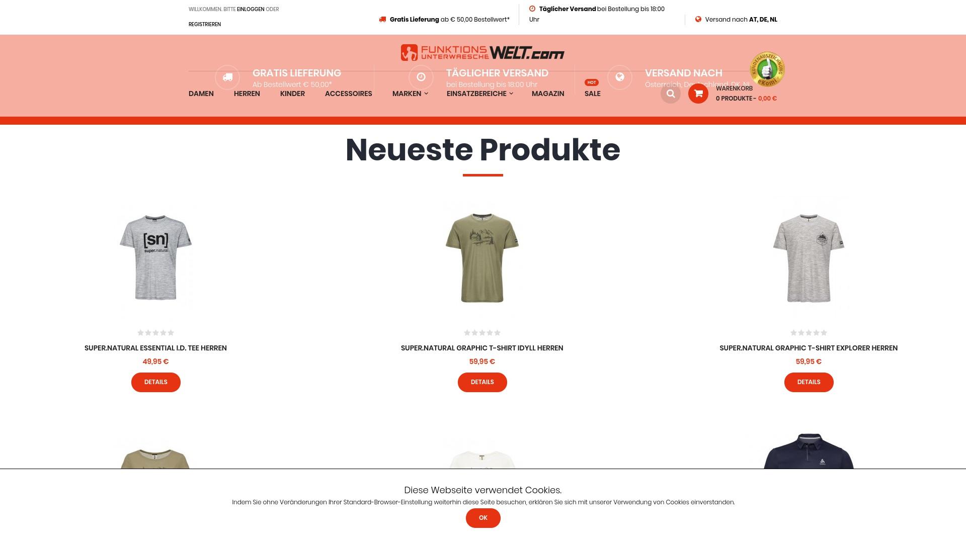 Gutschein für Funktionsunterwaeschewelt: Rabatte für  Funktionsunterwaeschewelt sichern