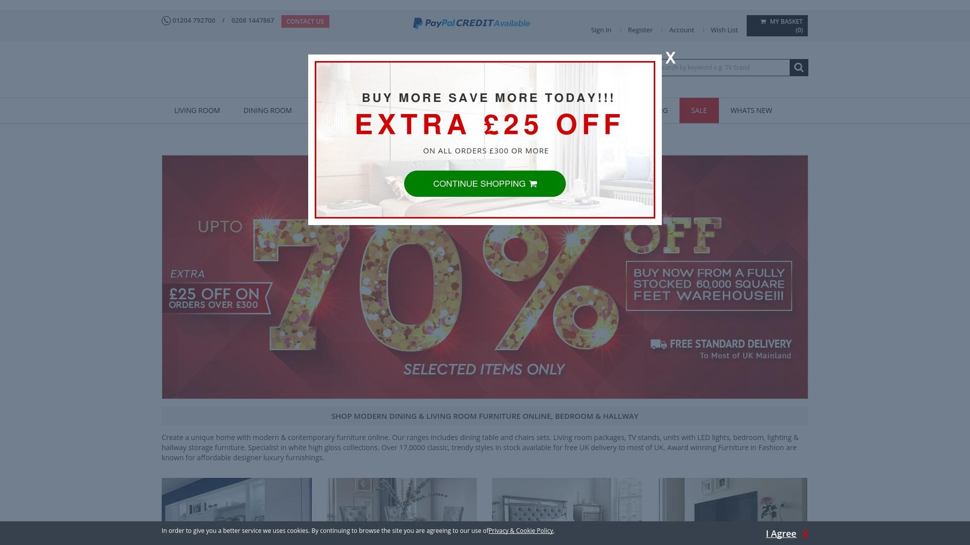 Gutschein für Furnitureinfashion: Rabatte für  Furnitureinfashion sichern