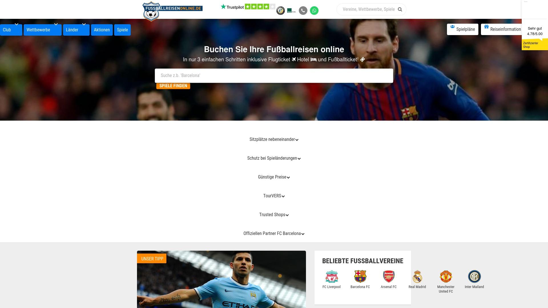 Gutschein für Fussballreisenonline: Rabatte für  Fussballreisenonline sichern
