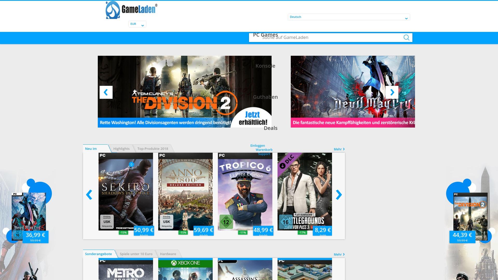 Gutschein für Gameladen: Rabatte für  Gameladen sichern