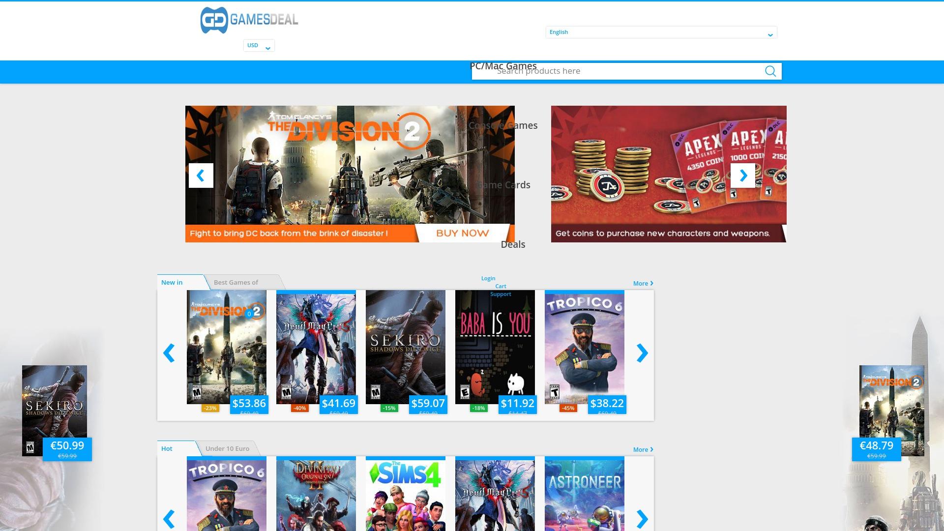 Gutschein für Gamesdeal: Rabatte für  Gamesdeal sichern