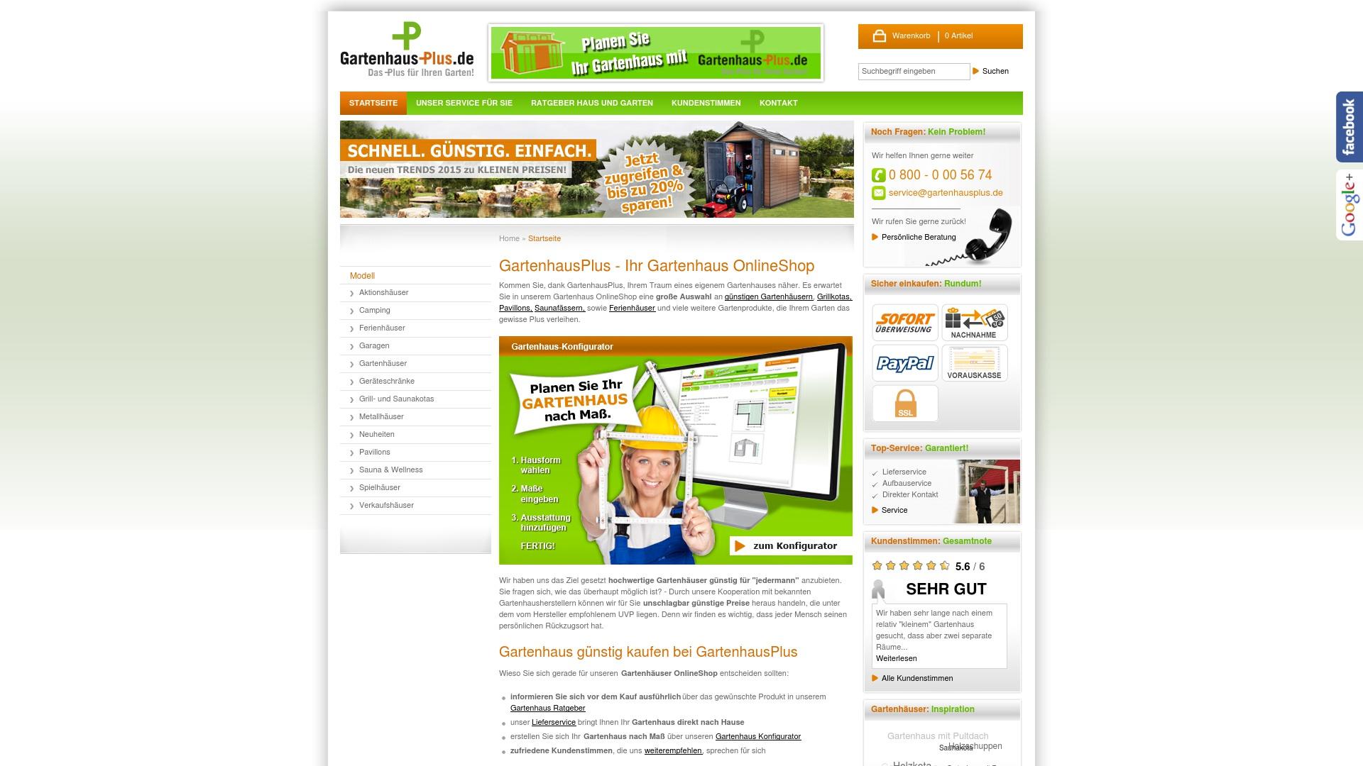 Gutschein für Gartenhausplus: Rabatte für  Gartenhausplus sichern