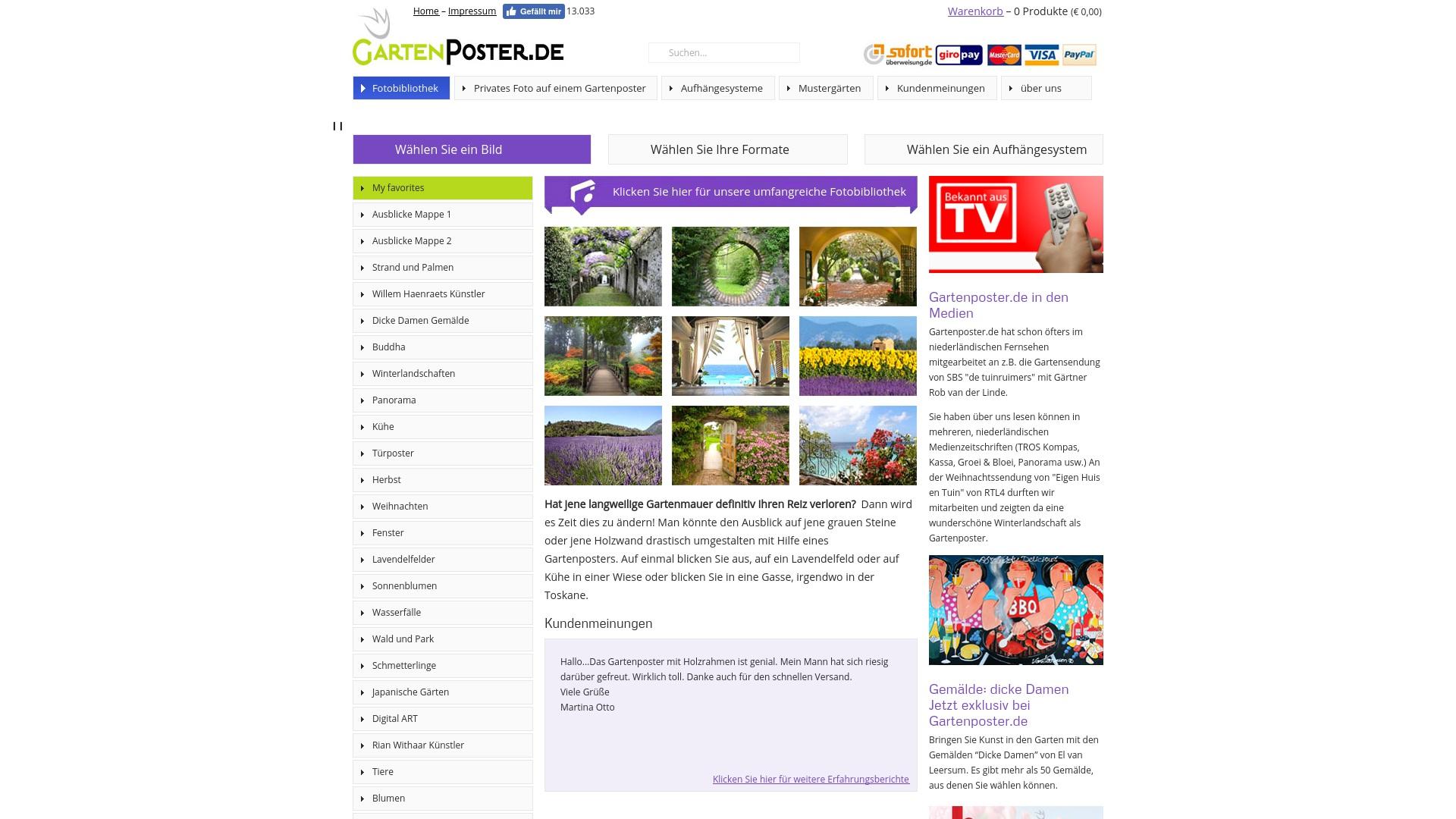 Gutschein für Gartenposter: Rabatte für  Gartenposter sichern