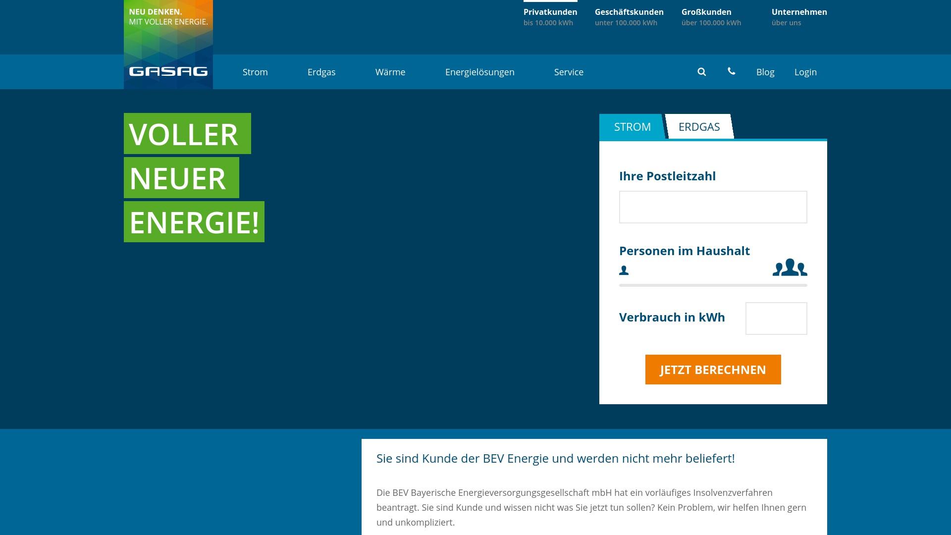 Gutschein für Gasag: Rabatte für  Gasag sichern