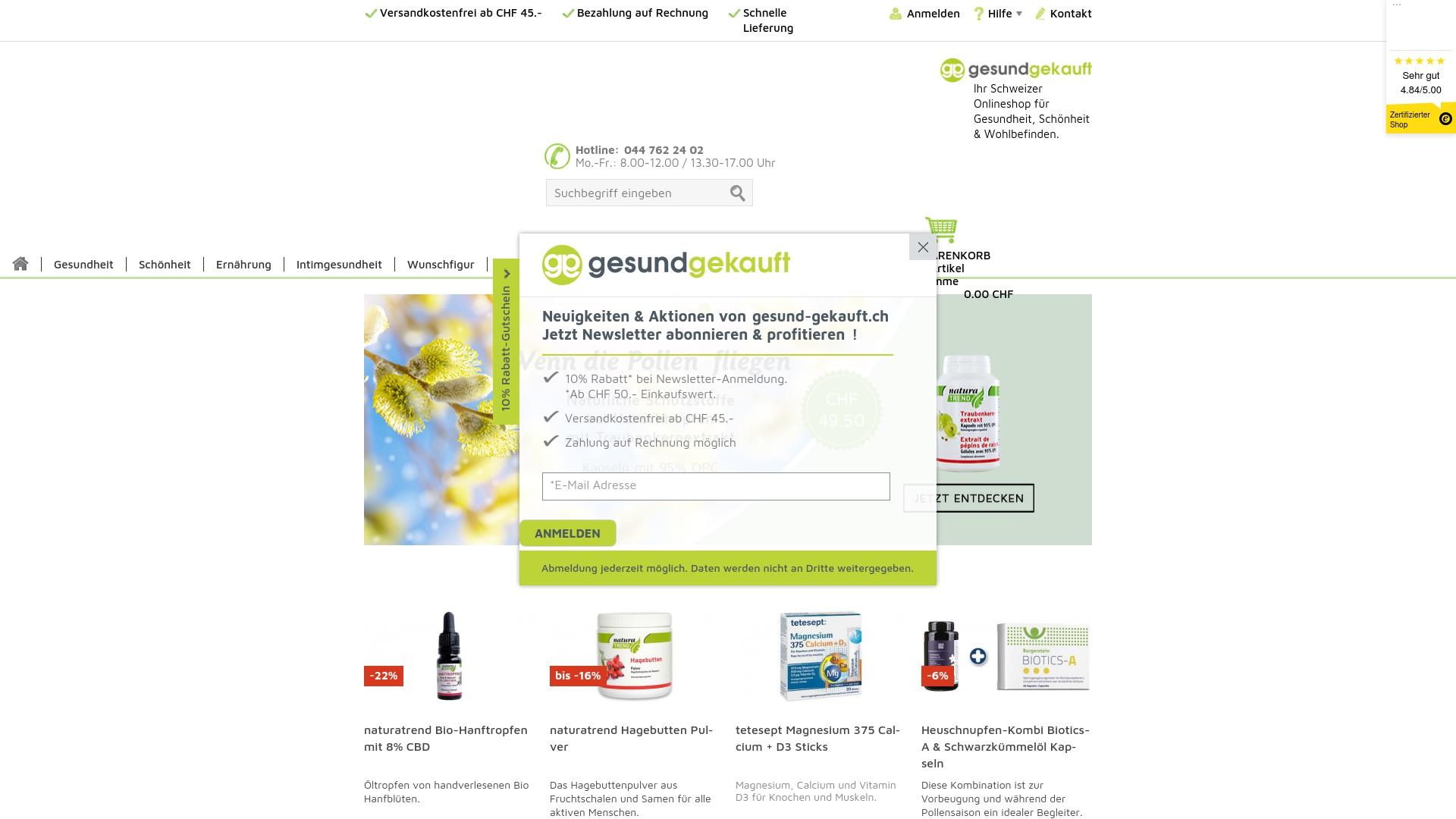 Gutschein für Gesund-gekauft: Rabatte für  Gesund-gekauft sichern