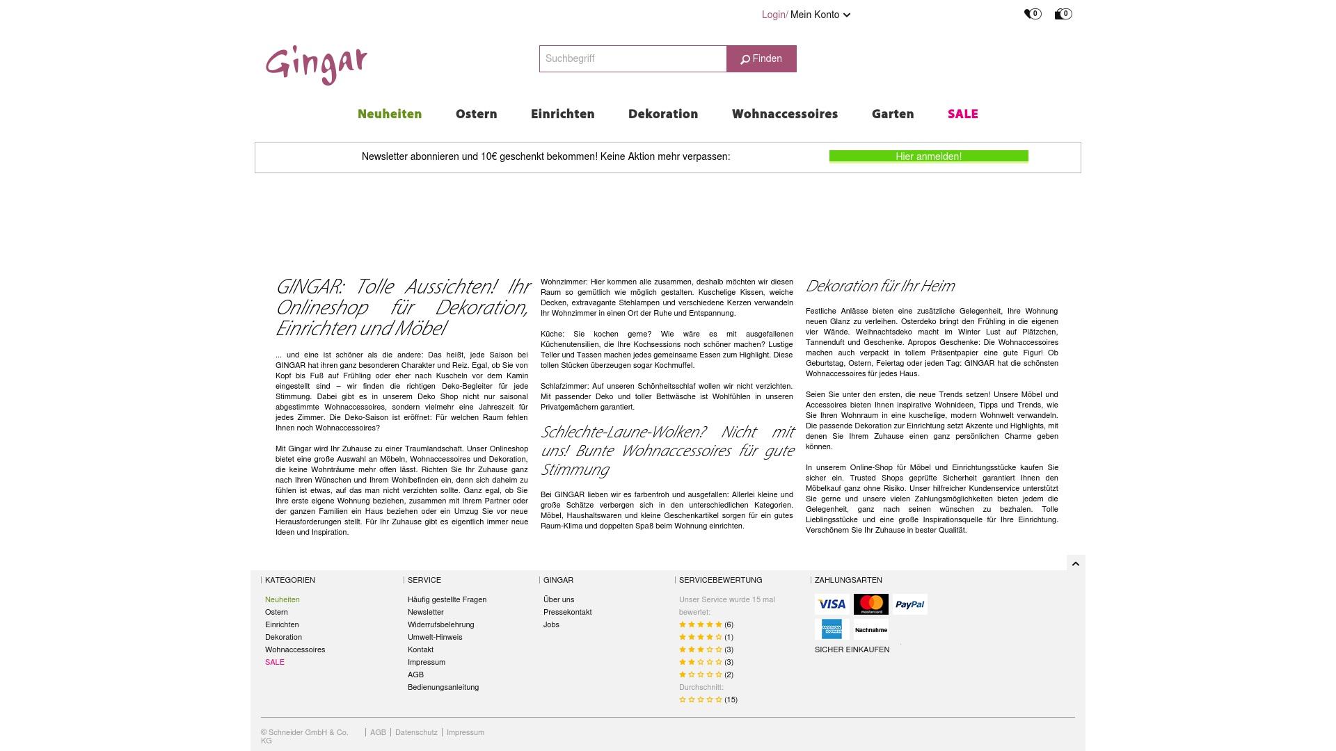 Gutschein für Gingar: Rabatte für  Gingar sichern