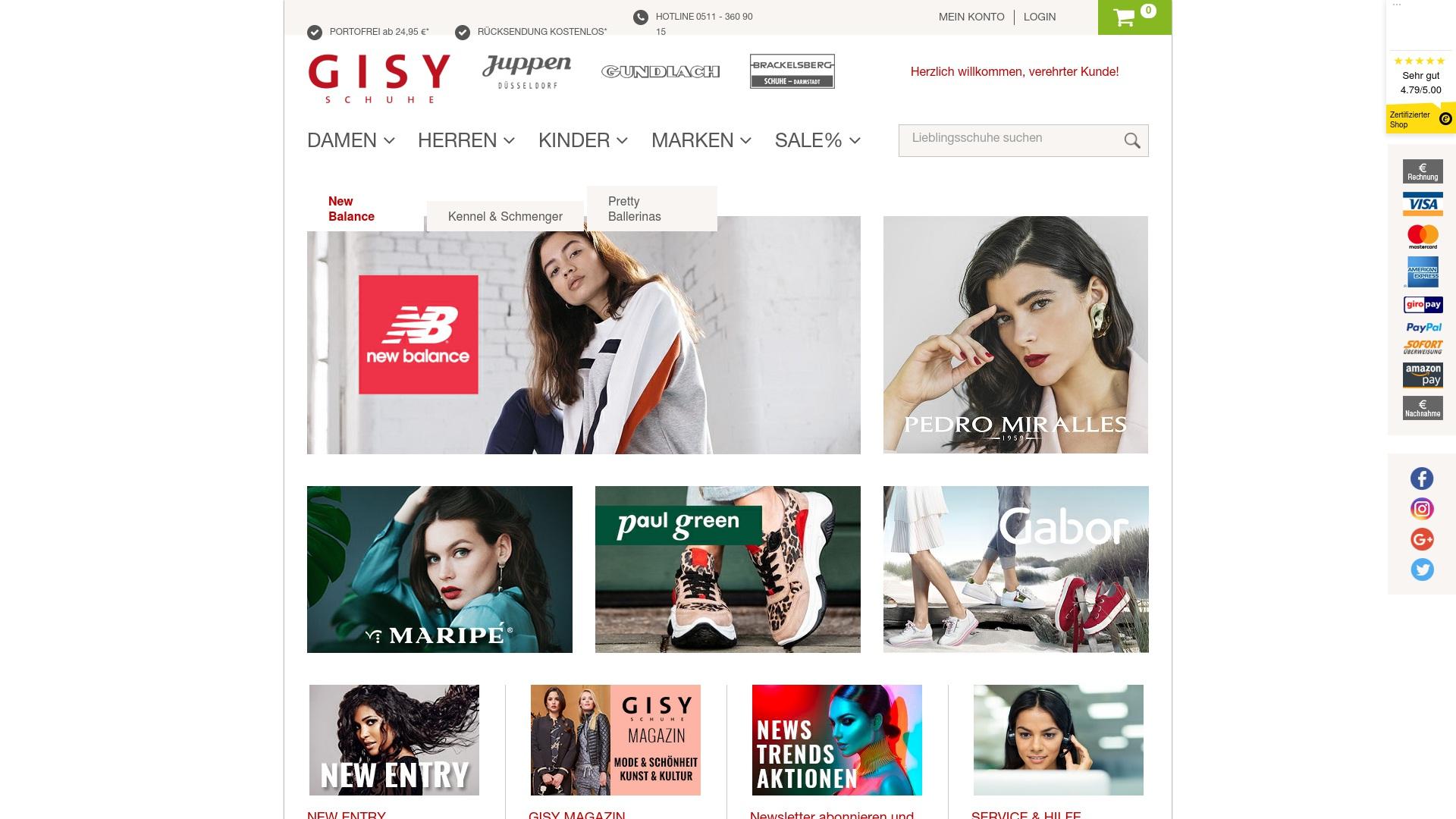 Gutschein für Gisy-schuhe: Rabatte für  Gisy-schuhe sichern
