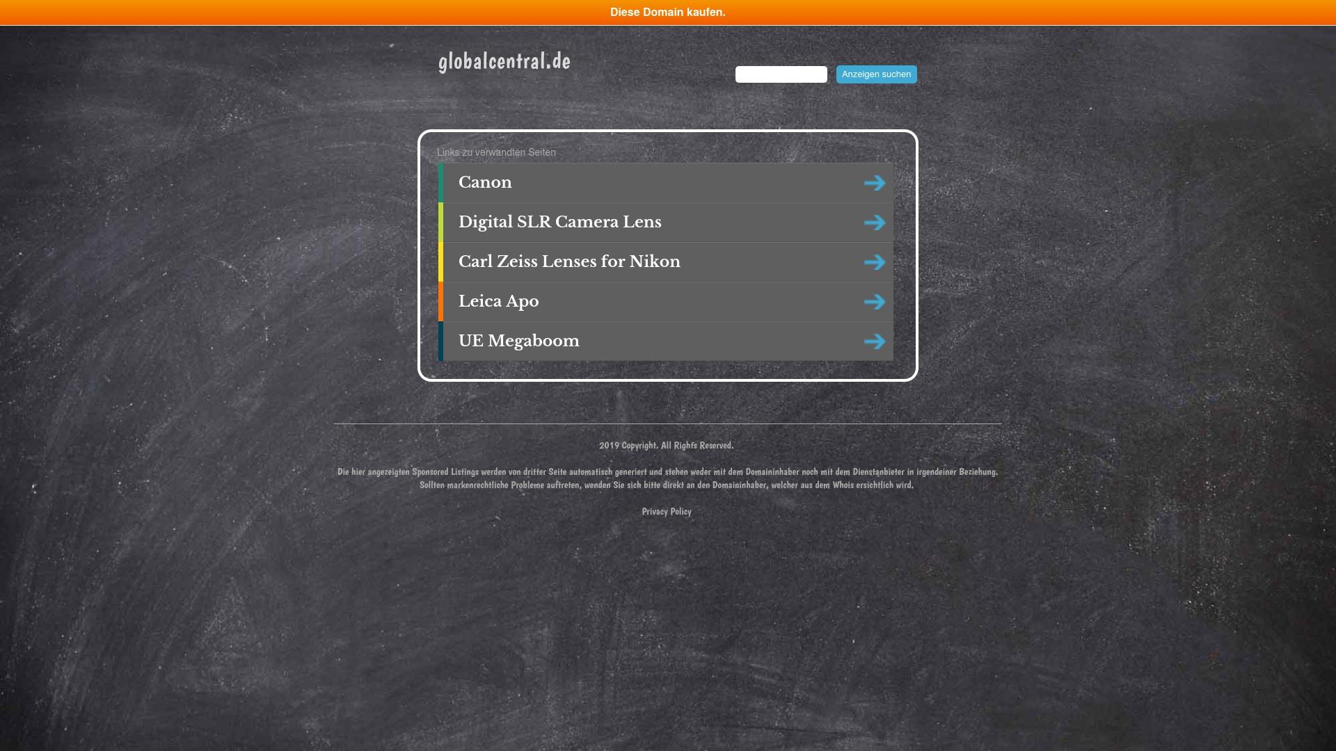 Gutschein für Globalcentral: Rabatte für  Globalcentral sichern