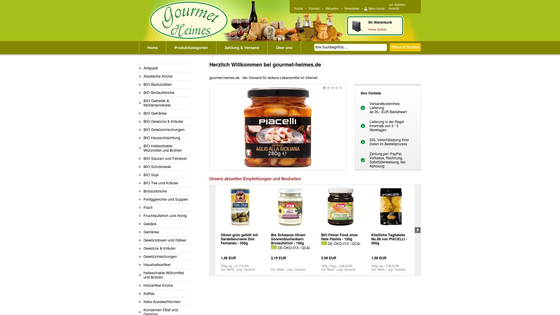 Gutschein für Gourmet-heimes: Rabatte für  Gourmet-heimes sichern