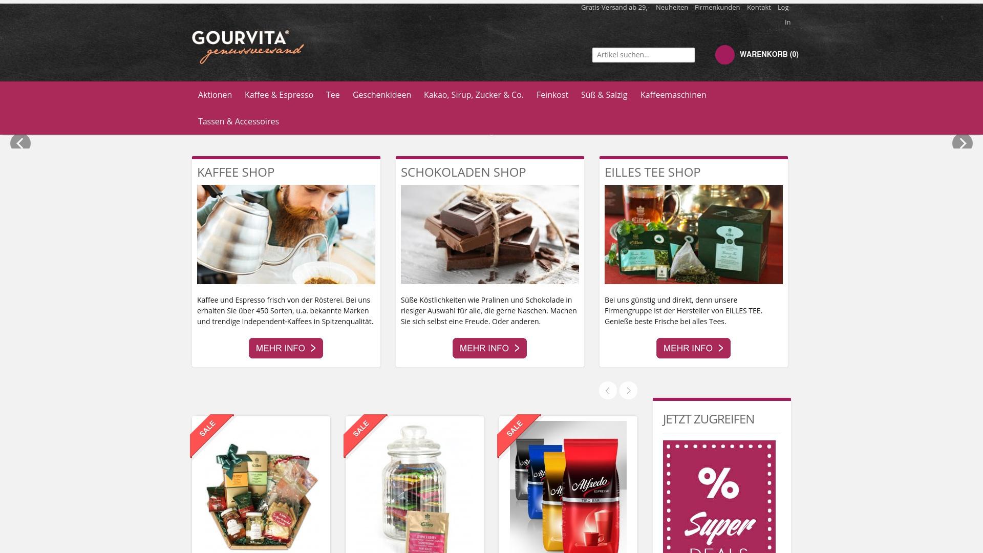 Gutschein für Gourvita: Rabatte für  Gourvita sichern