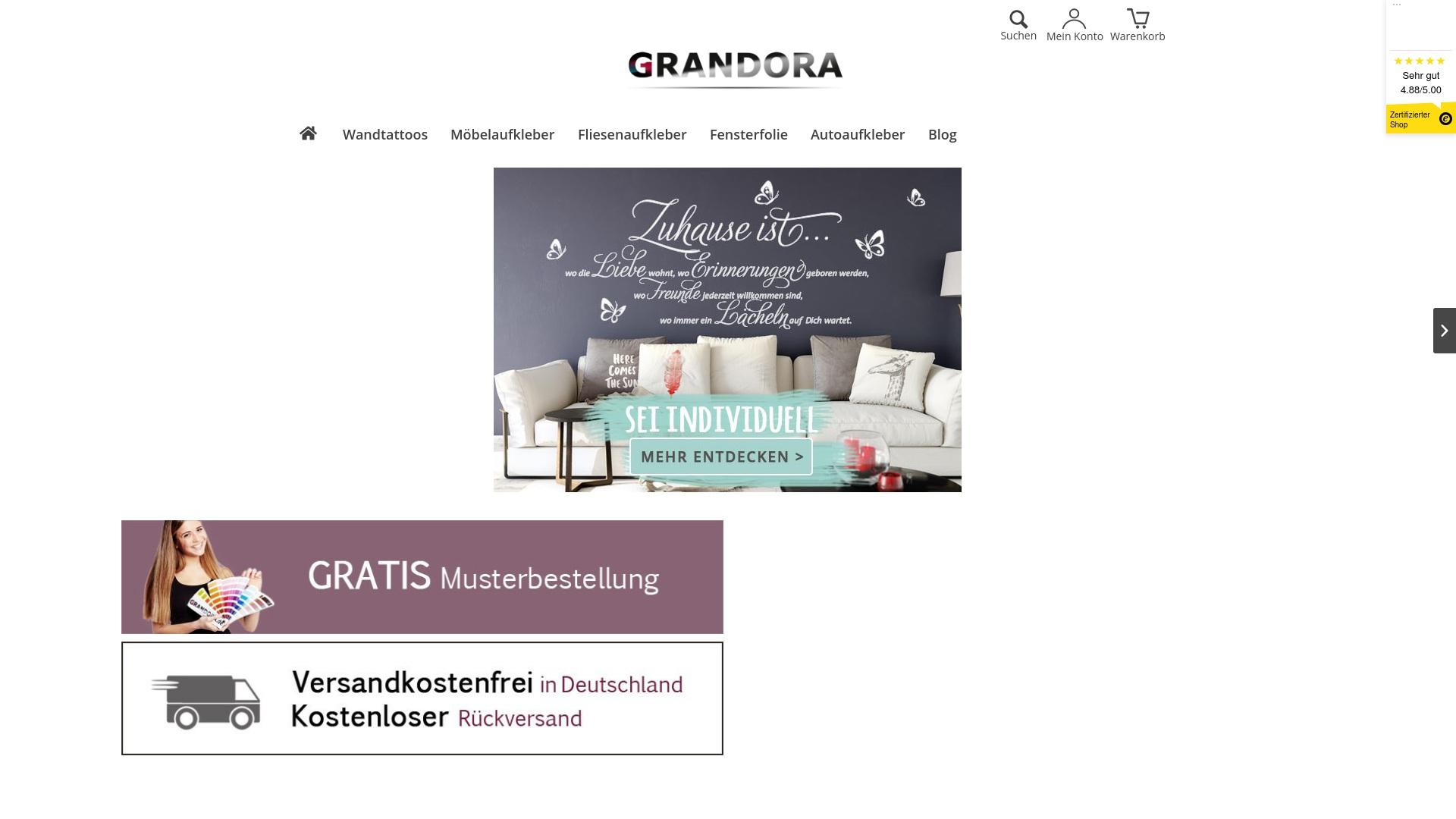 Gutschein für Grandora: Rabatte für  Grandora sichern