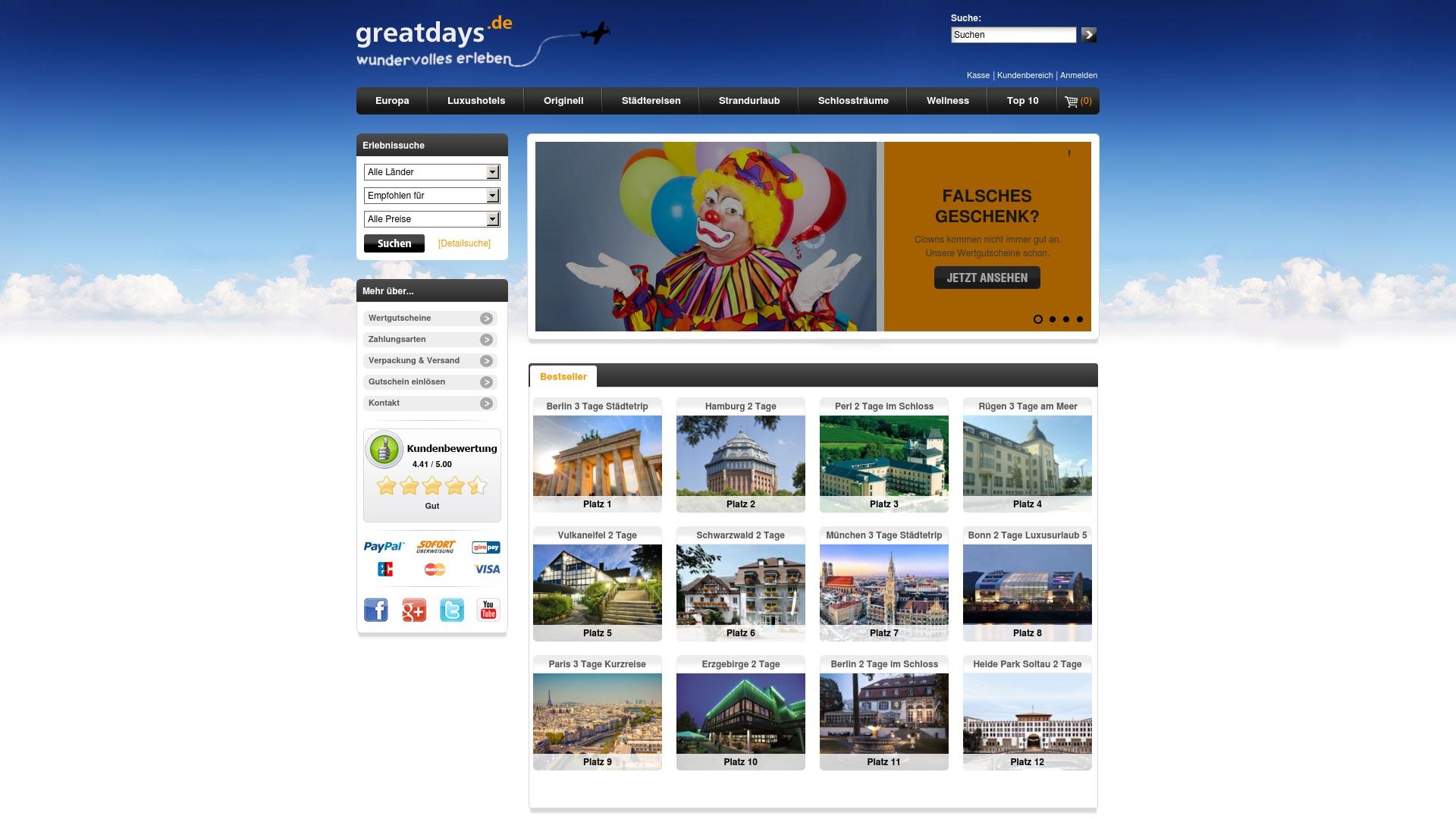 Gutschein für Greatdays: Rabatte für  Greatdays sichern