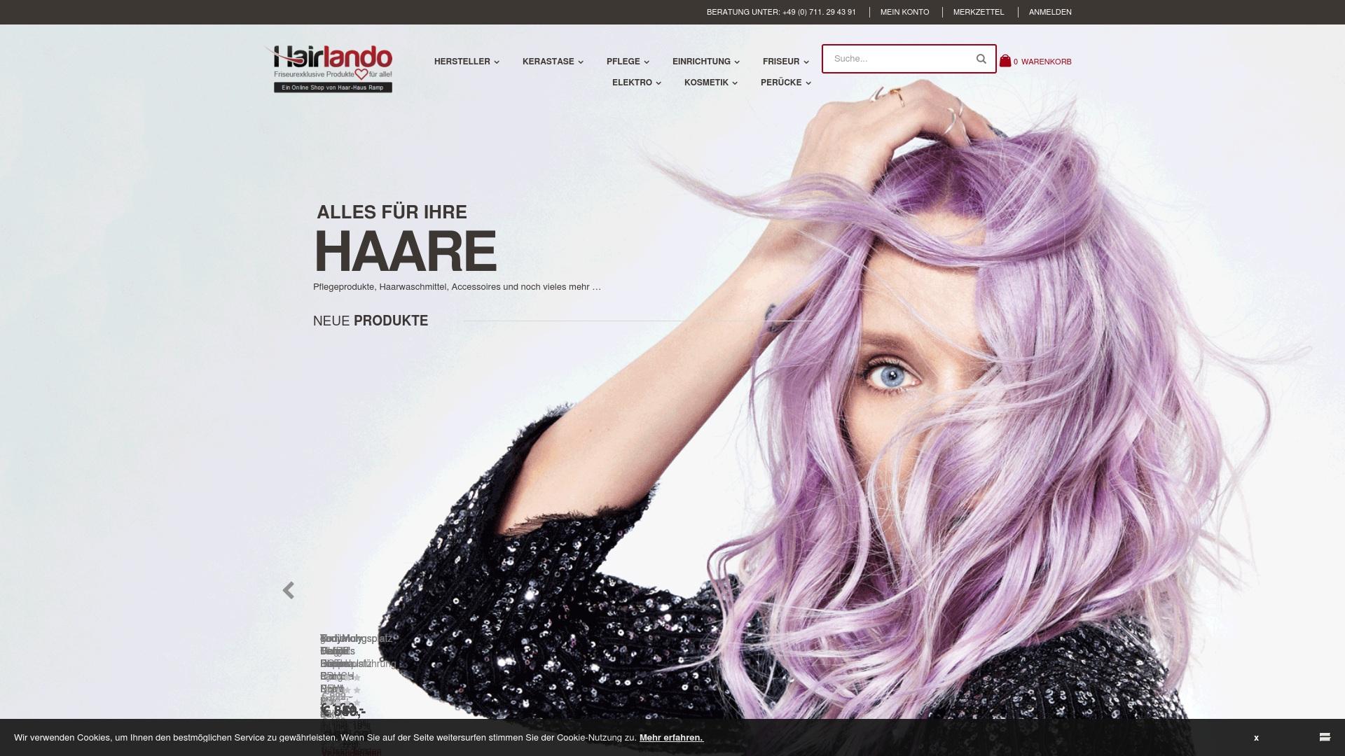 Gutschein für Hairlando: Rabatte für  Hairlando sichern