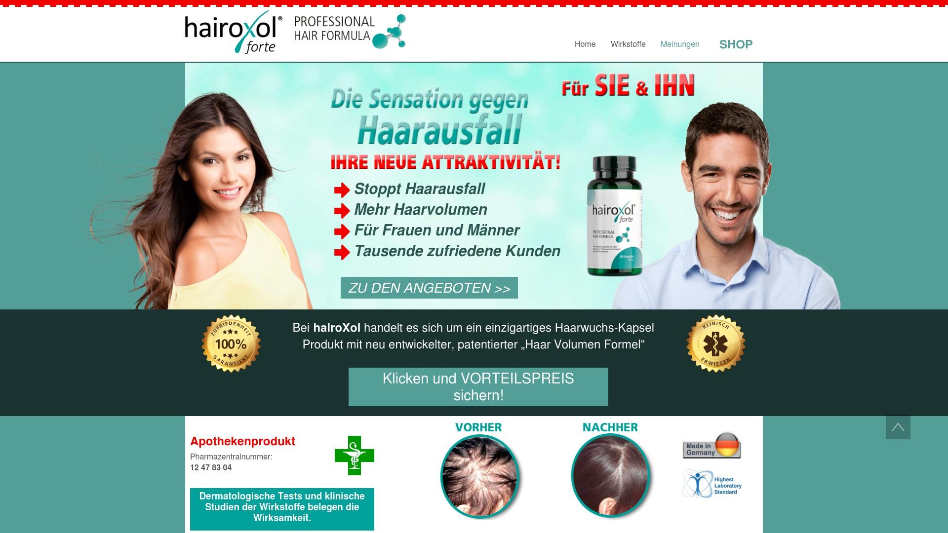 Gutschein für Hairoxol: Rabatte für  Hairoxol sichern