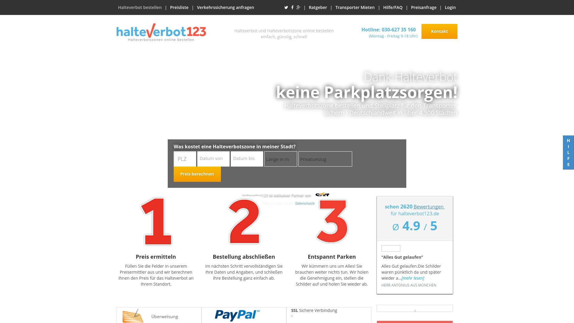 Gutschein für Halteverbot123: Rabatte für  Halteverbot123 sichern
