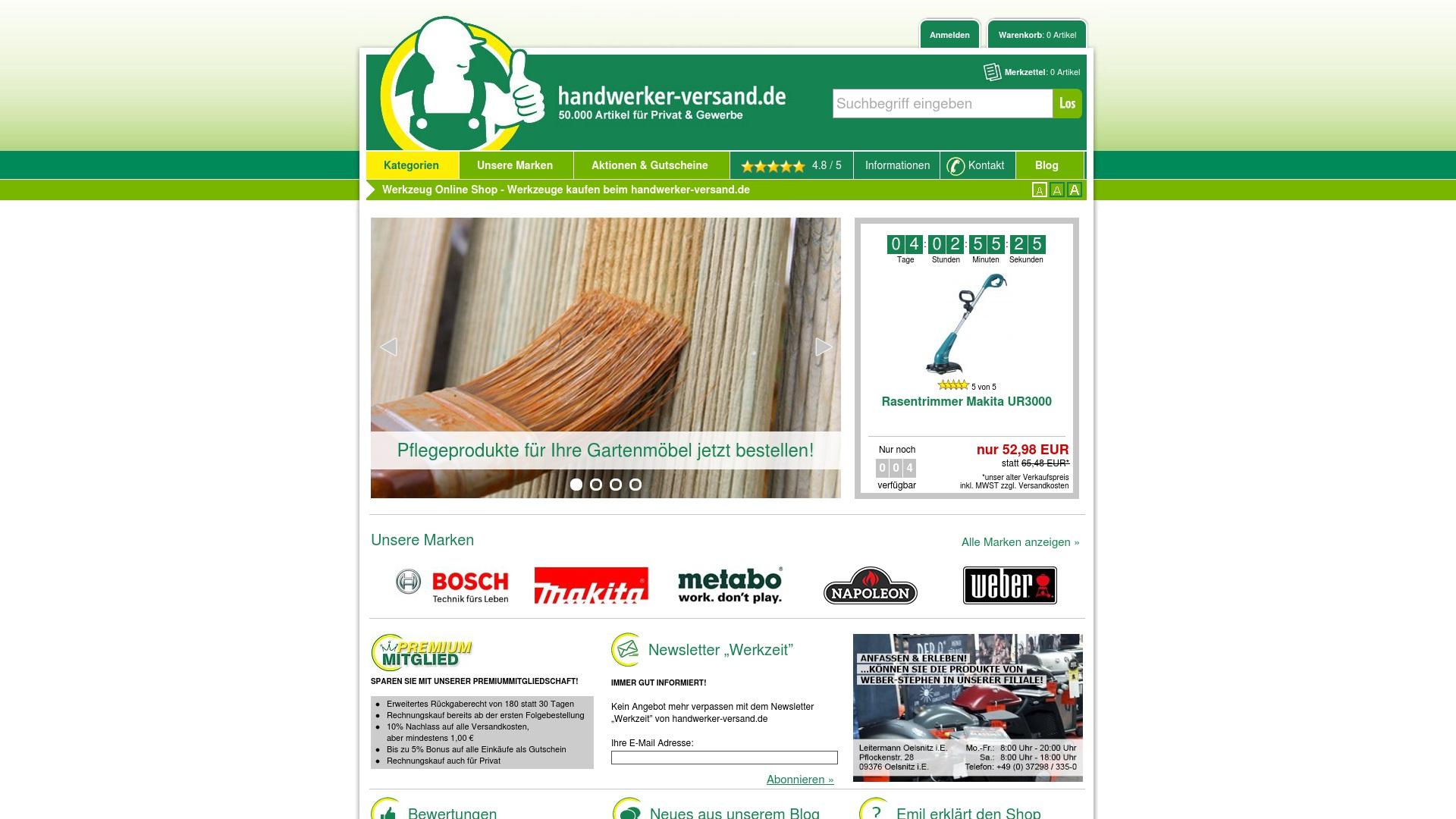 Gutschein für Handwerker-versand: Rabatte für  Handwerker-versand sichern