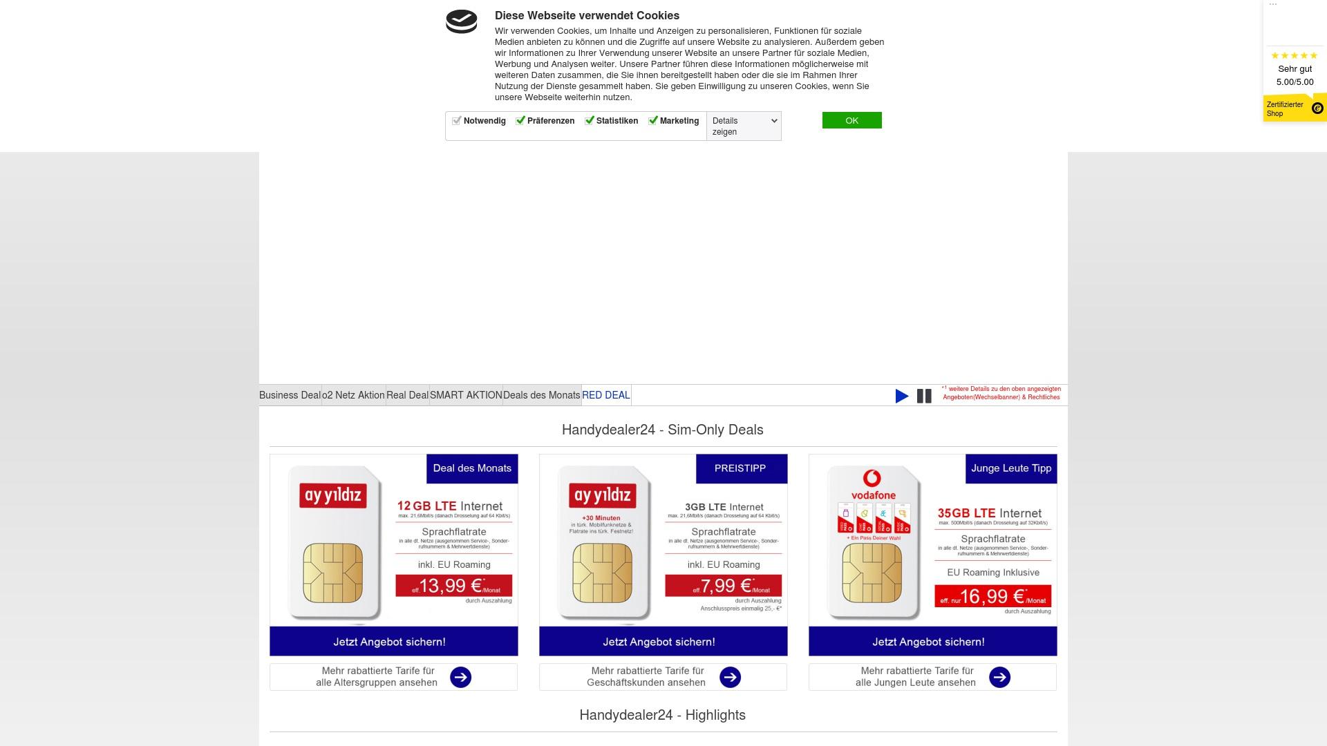 Gutschein für Handydealer24: Rabatte für  Handydealer24 sichern