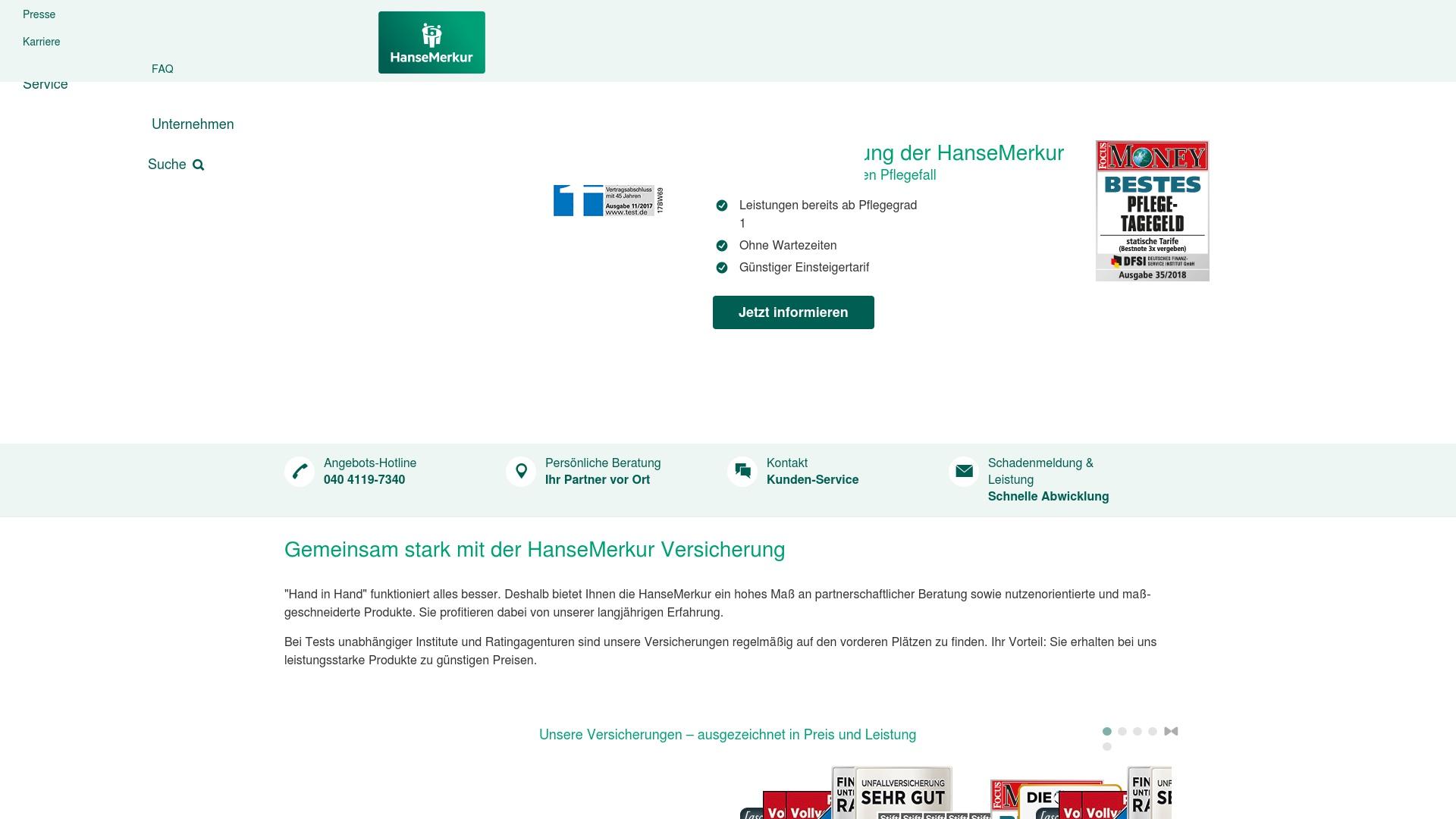 Gutschein für Hansemerkur: Rabatte für  Hansemerkur sichern