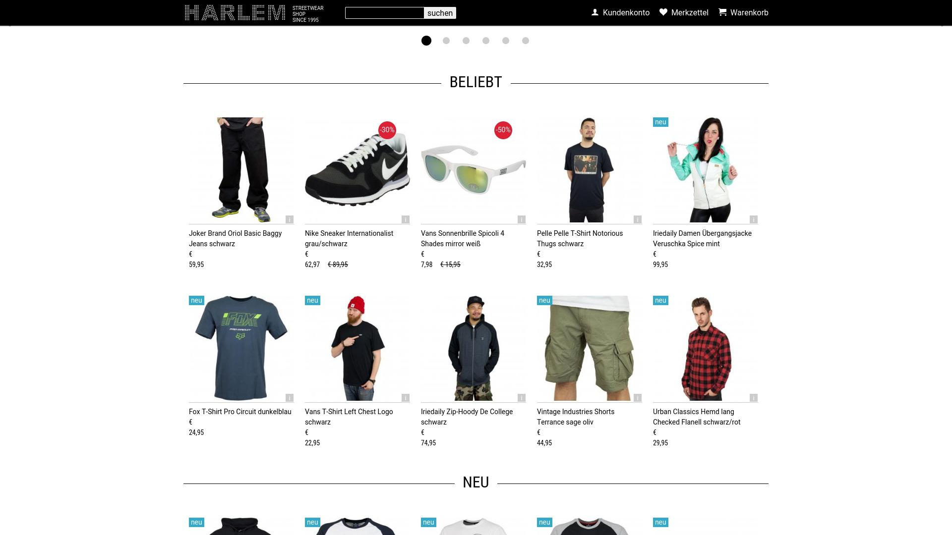 Gutschein für Harlem-stores: Rabatte für  Harlem-stores sichern