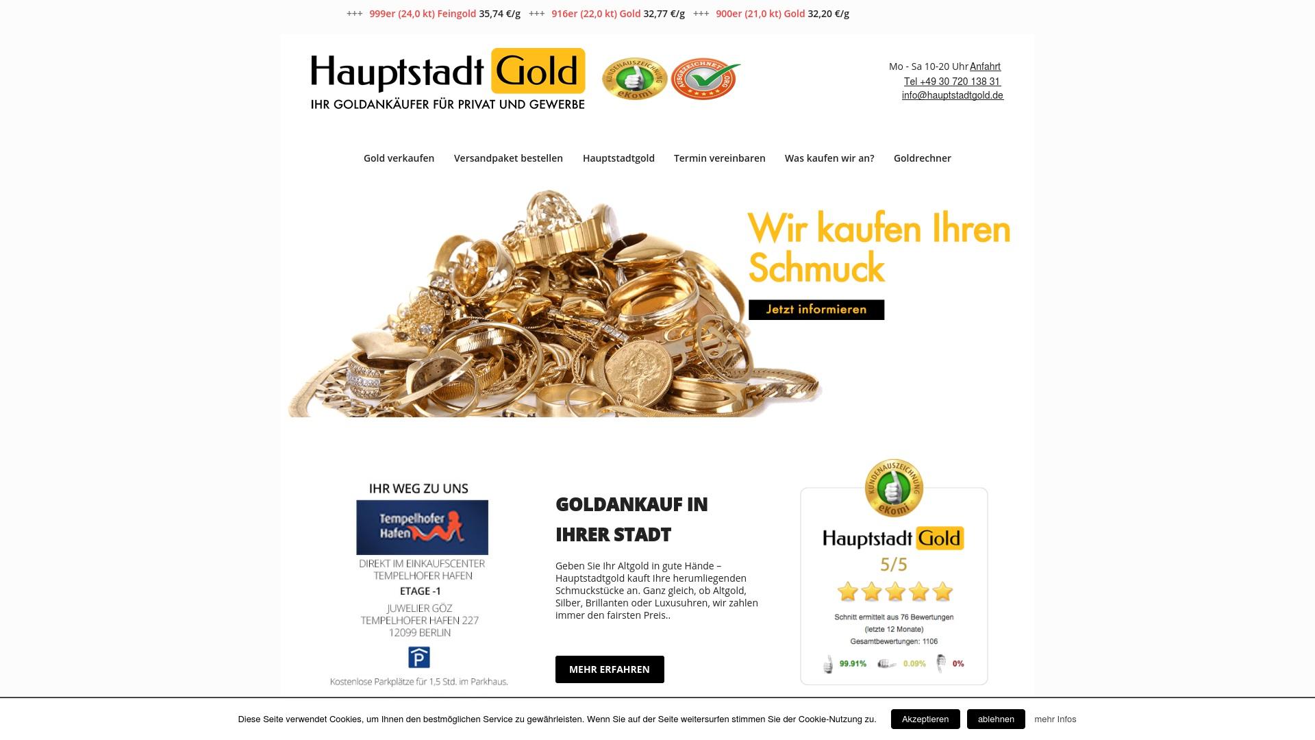 Gutschein für Hauptstadtgold: Rabatte für  Hauptstadtgold sichern