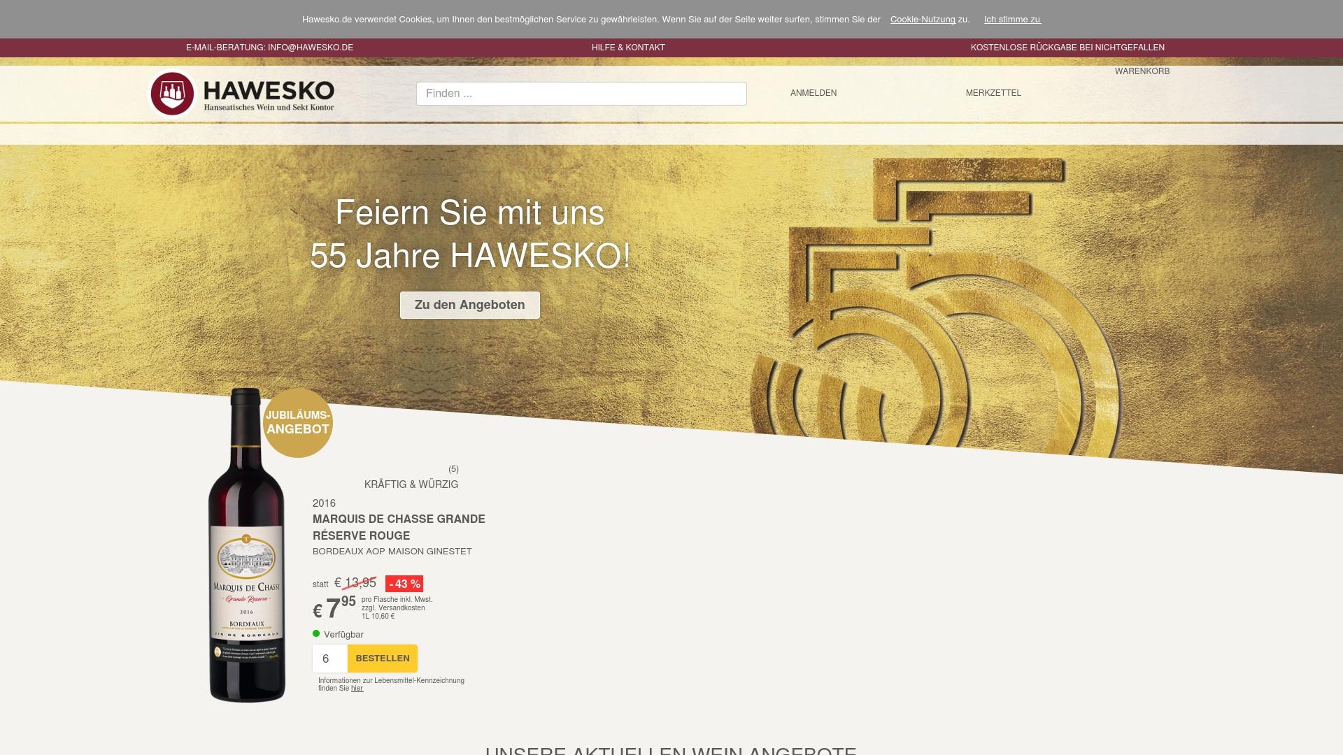 Gutschein für Hawesko: Rabatte für  Hawesko sichern