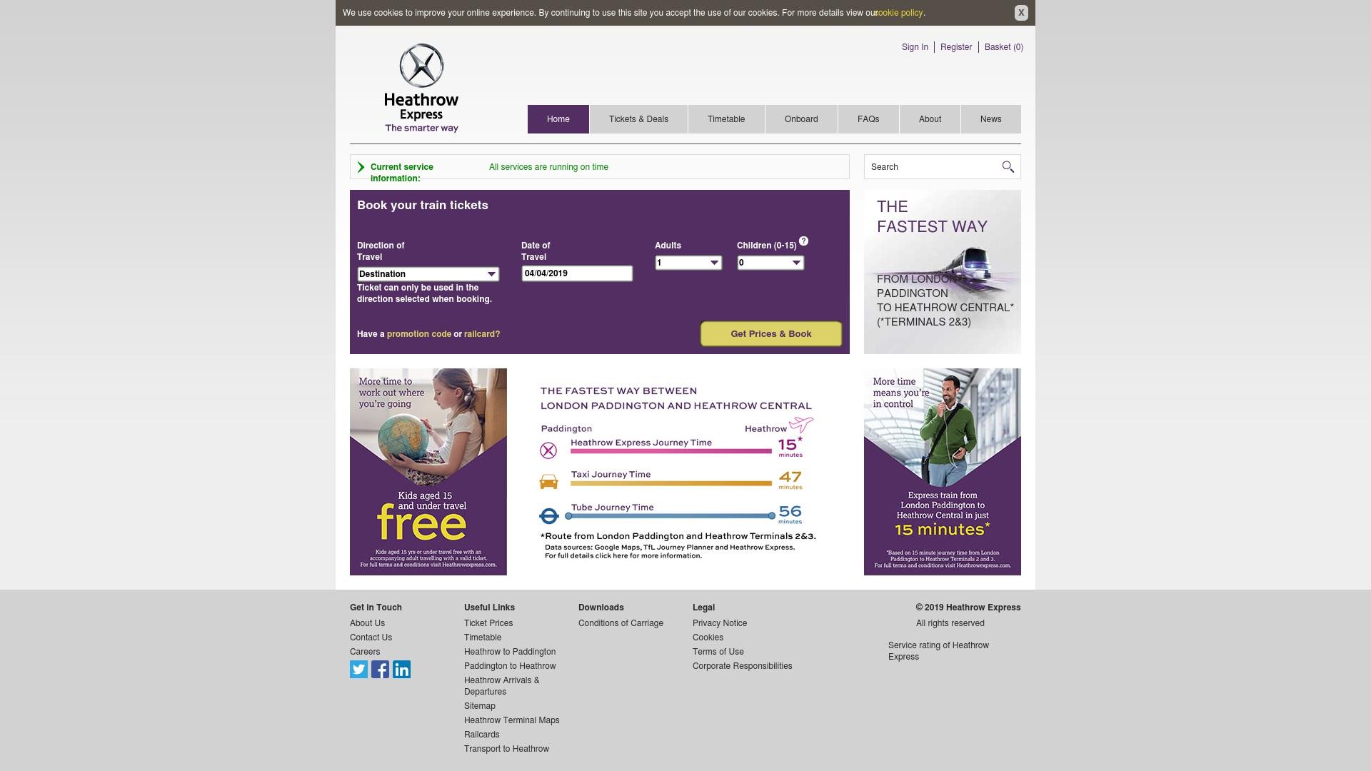 Gutschein für Heathrowexpress: Rabatte für  Heathrowexpress sichern