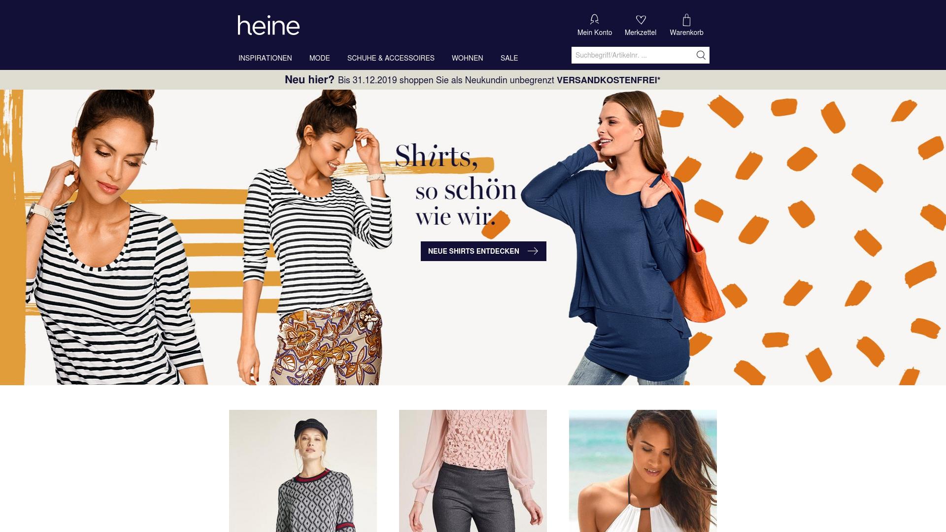 Gutschein für Heine: Rabatte für  Heine sichern