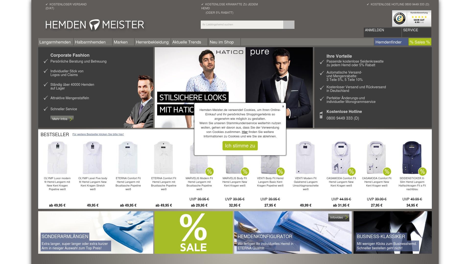Gutschein für Hemden-meister: Rabatte für  Hemden-meister sichern