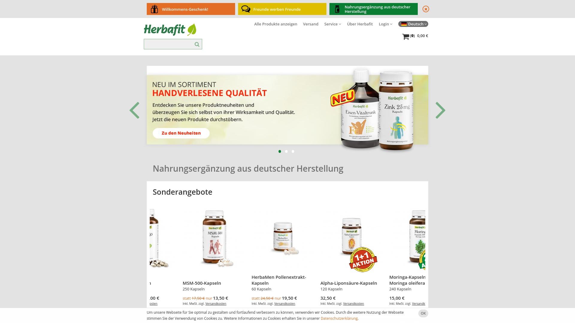 Gutschein für Herbafit: Rabatte für  Herbafit sichern