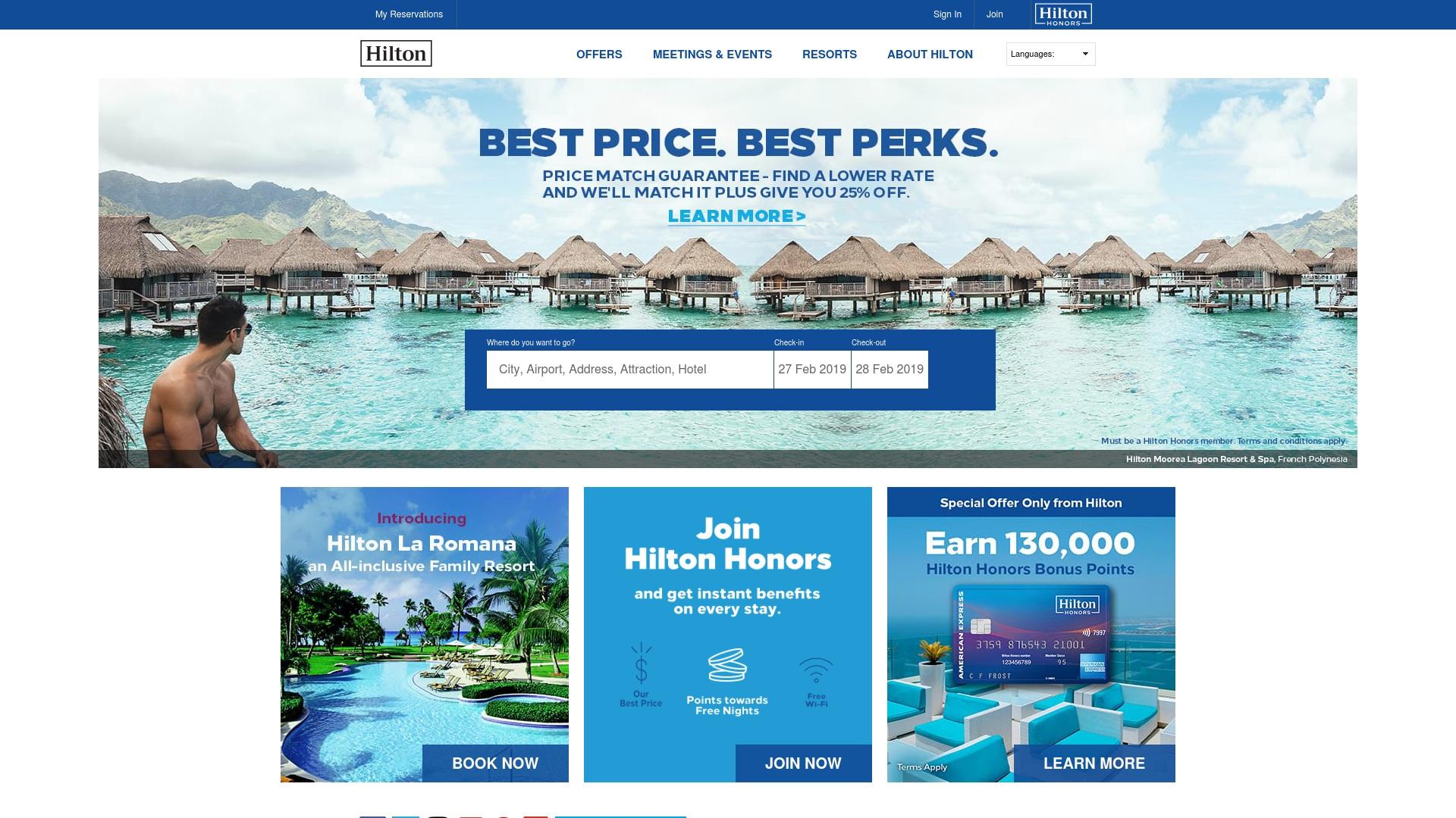 Gutschein für Hilton: Rabatte für  Hilton sichern