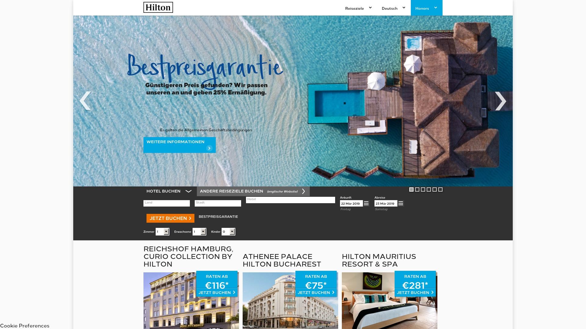 Gutschein für Hiltonhotels: Rabatte für  Hiltonhotels sichern