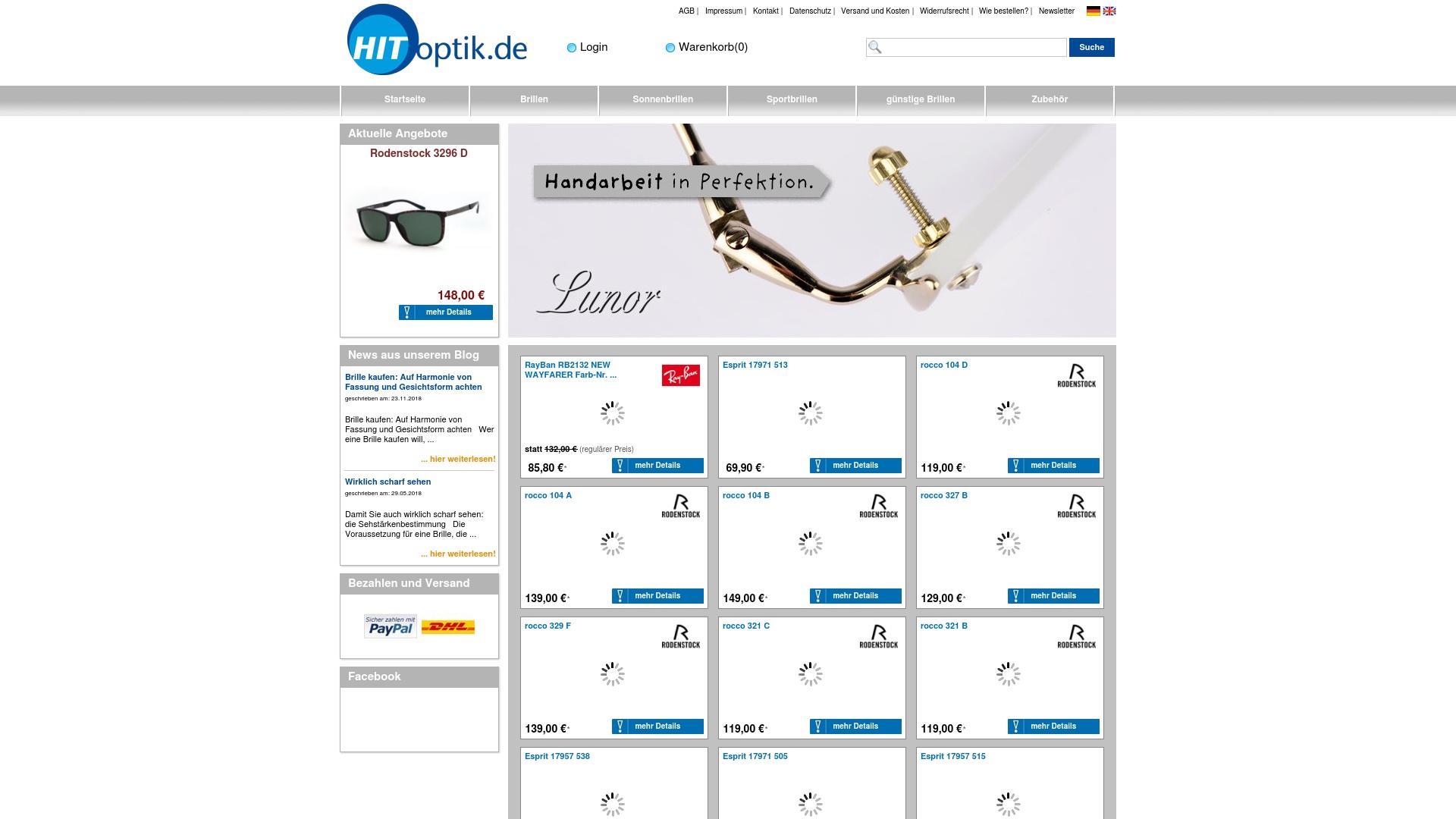 Gutschein für Hit-optik: Rabatte für  Hit-optik sichern