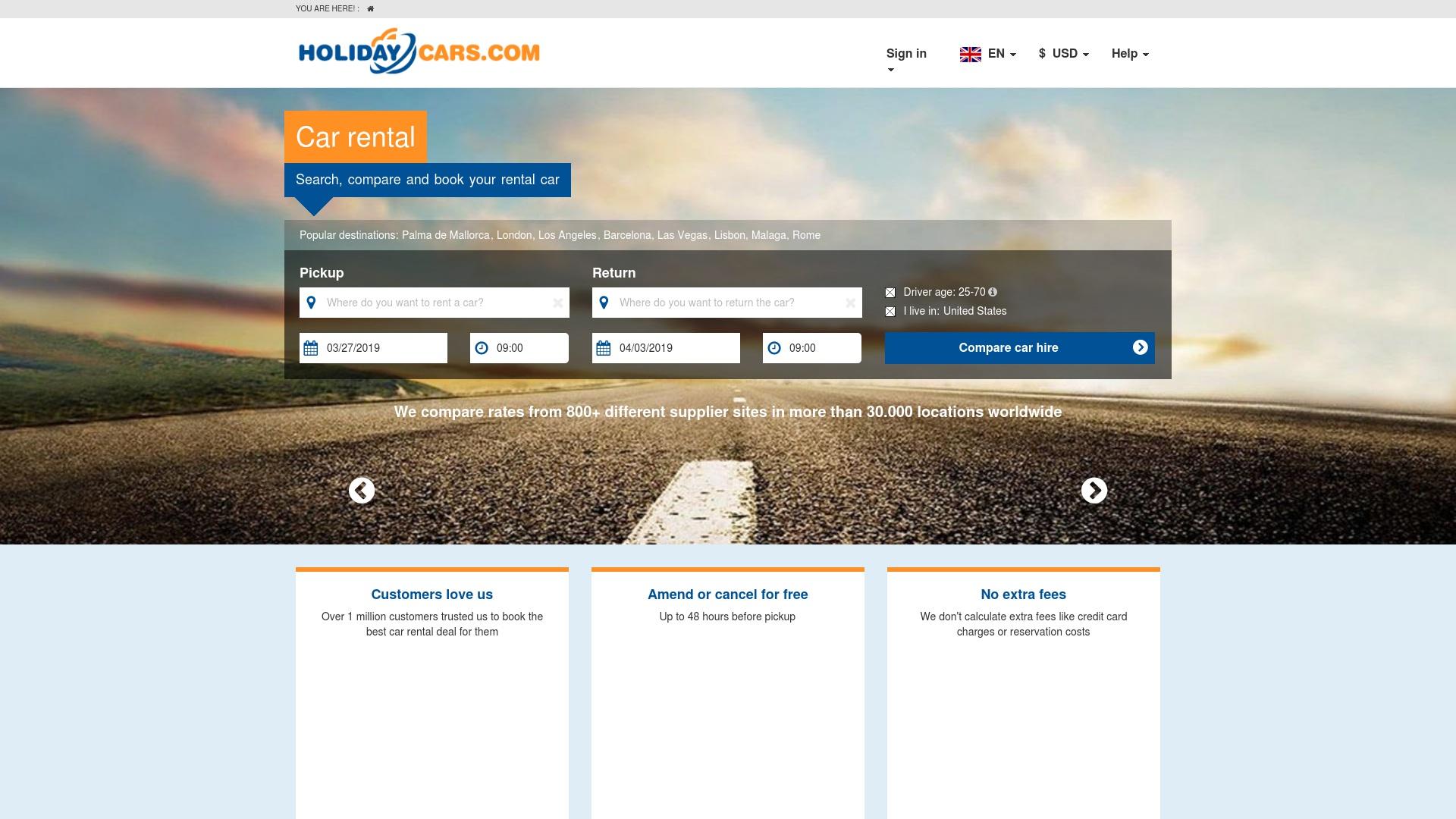 Gutschein für Holidaycars: Rabatte für  Holidaycars sichern