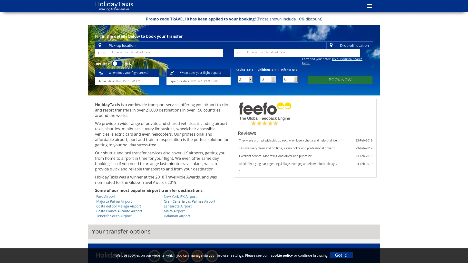 Gutschein für Holidaytaxis: Rabatte für  Holidaytaxis sichern