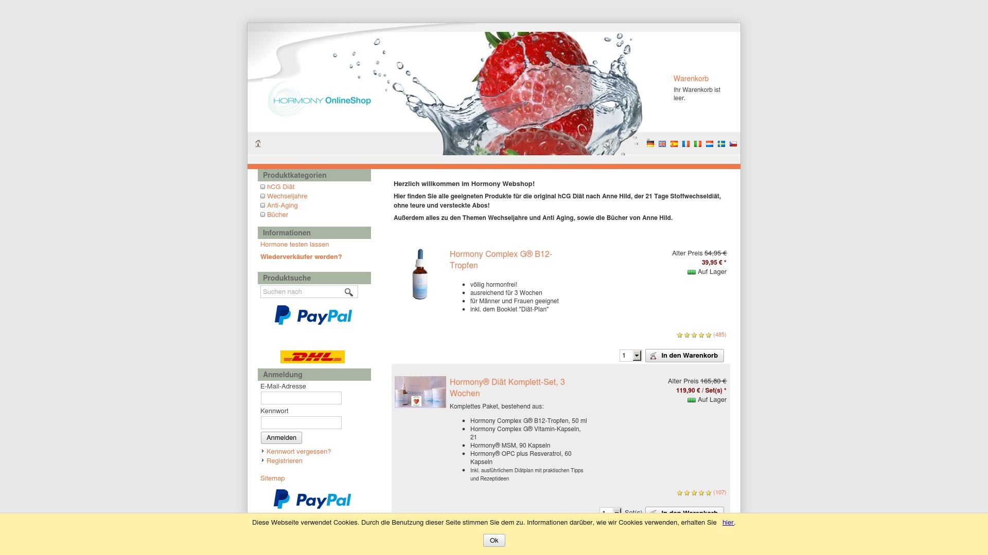 Gutschein für Hormonyshop: Rabatte für  Hormonyshop sichern