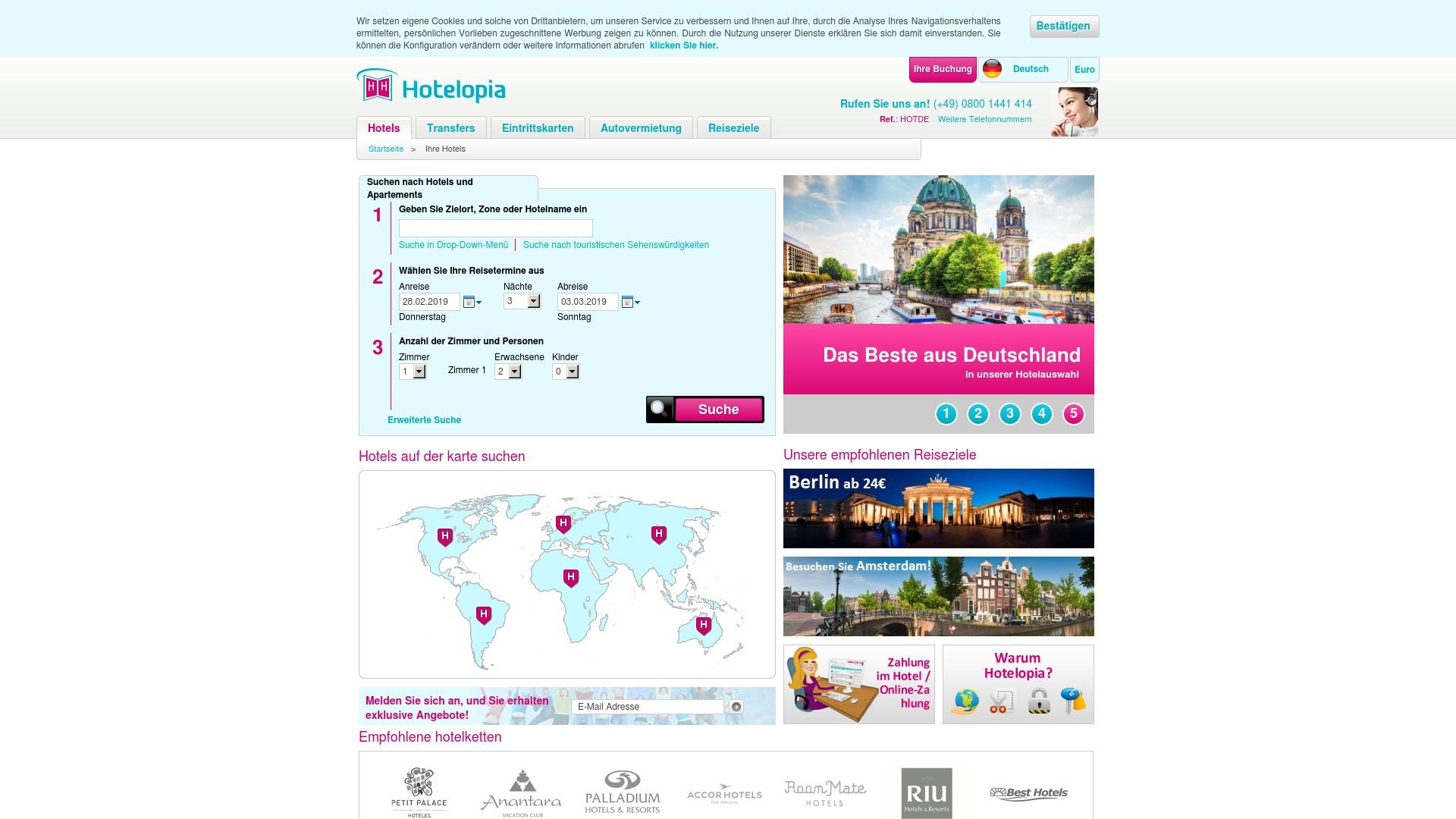Gutschein für Hotelopia: Rabatte für  Hotelopia sichern