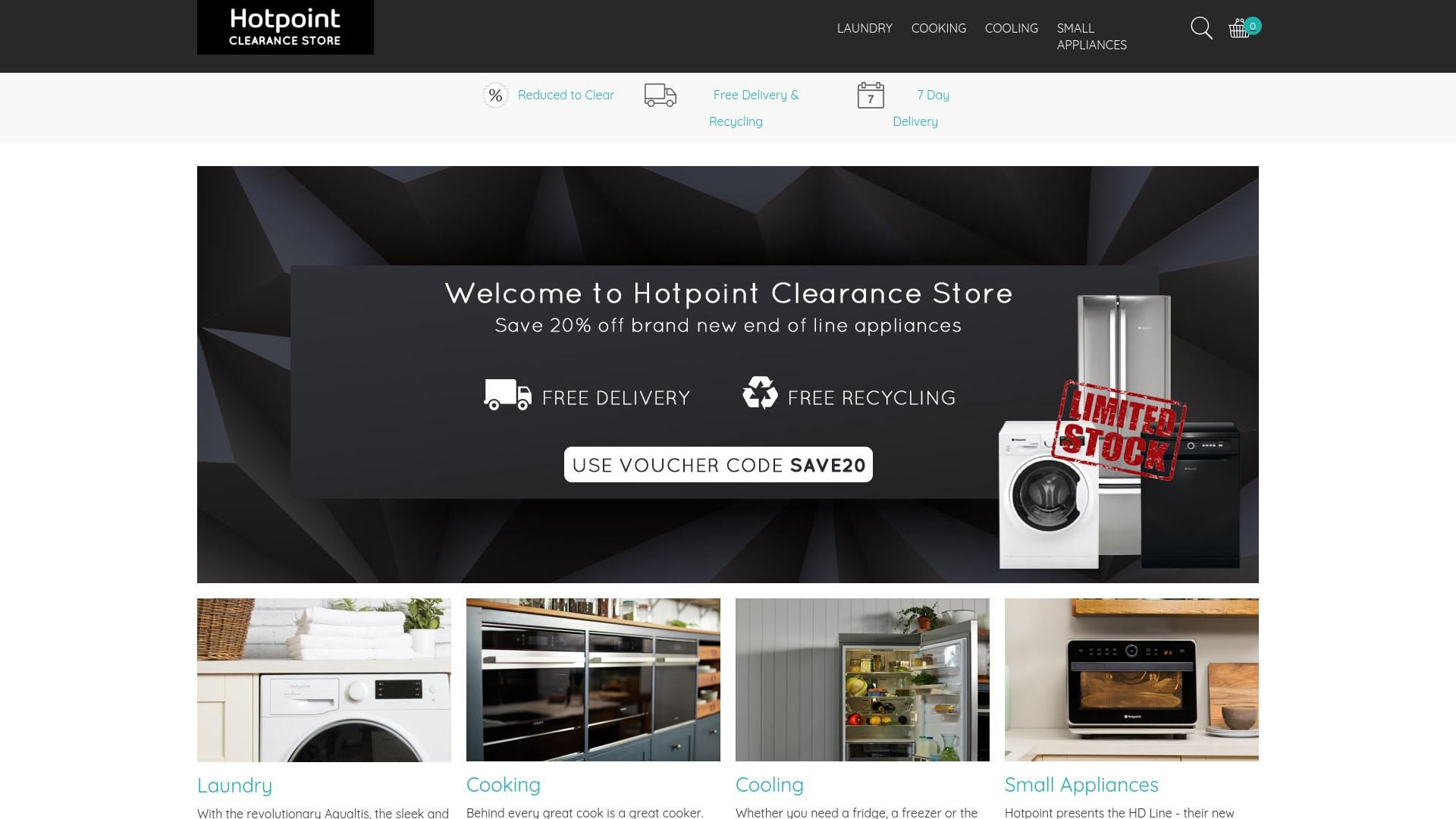 Gutschein für Hotpointclearance: Rabatte für  Hotpointclearance sichern