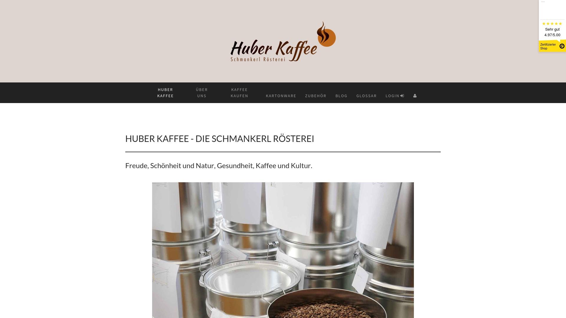 Gutschein für Huber-kaffee: Rabatte für  Huber-kaffee sichern