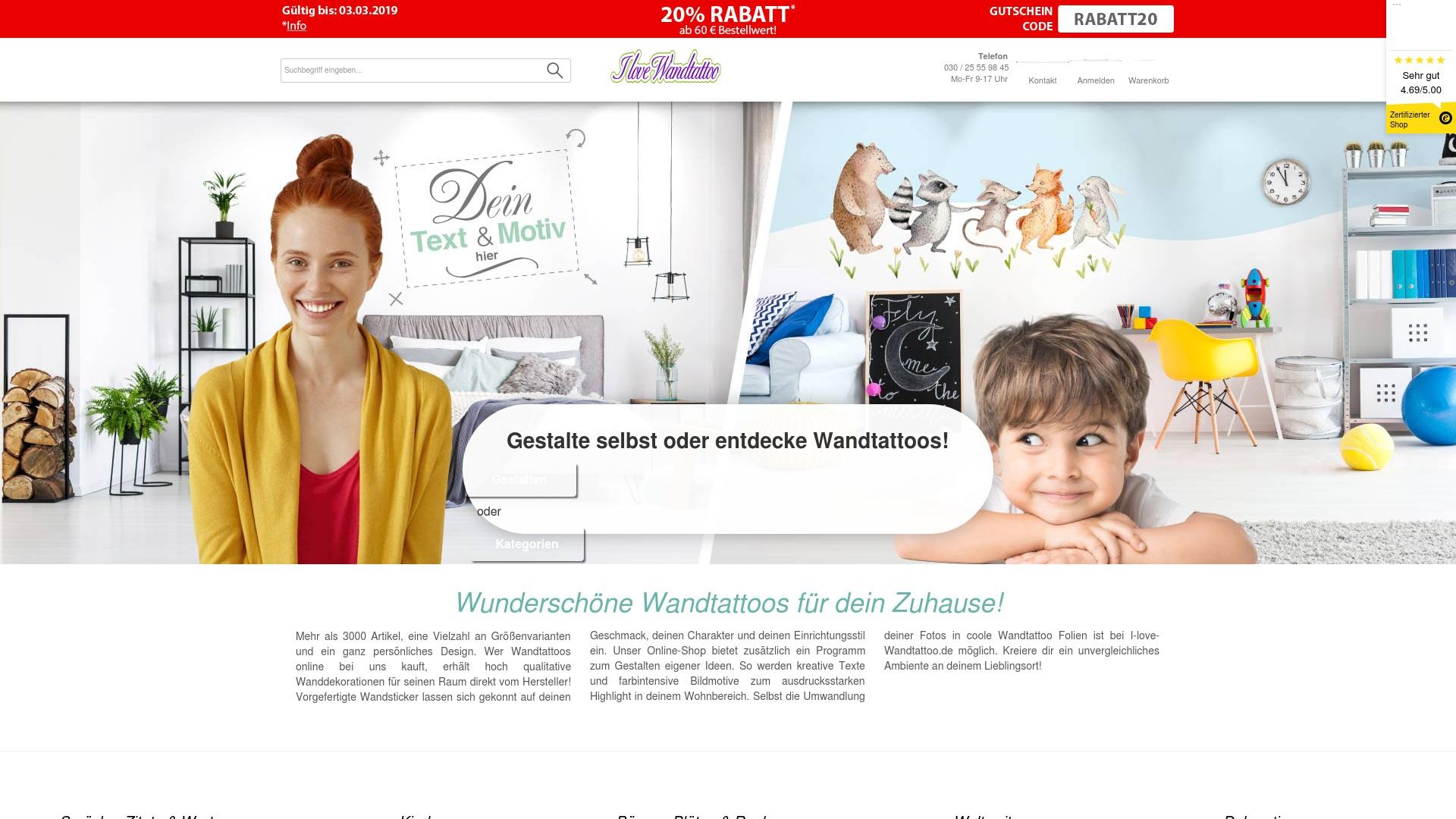 Gutschein für I-love-wandtattoo: Rabatte für  I-love-wandtattoo sichern