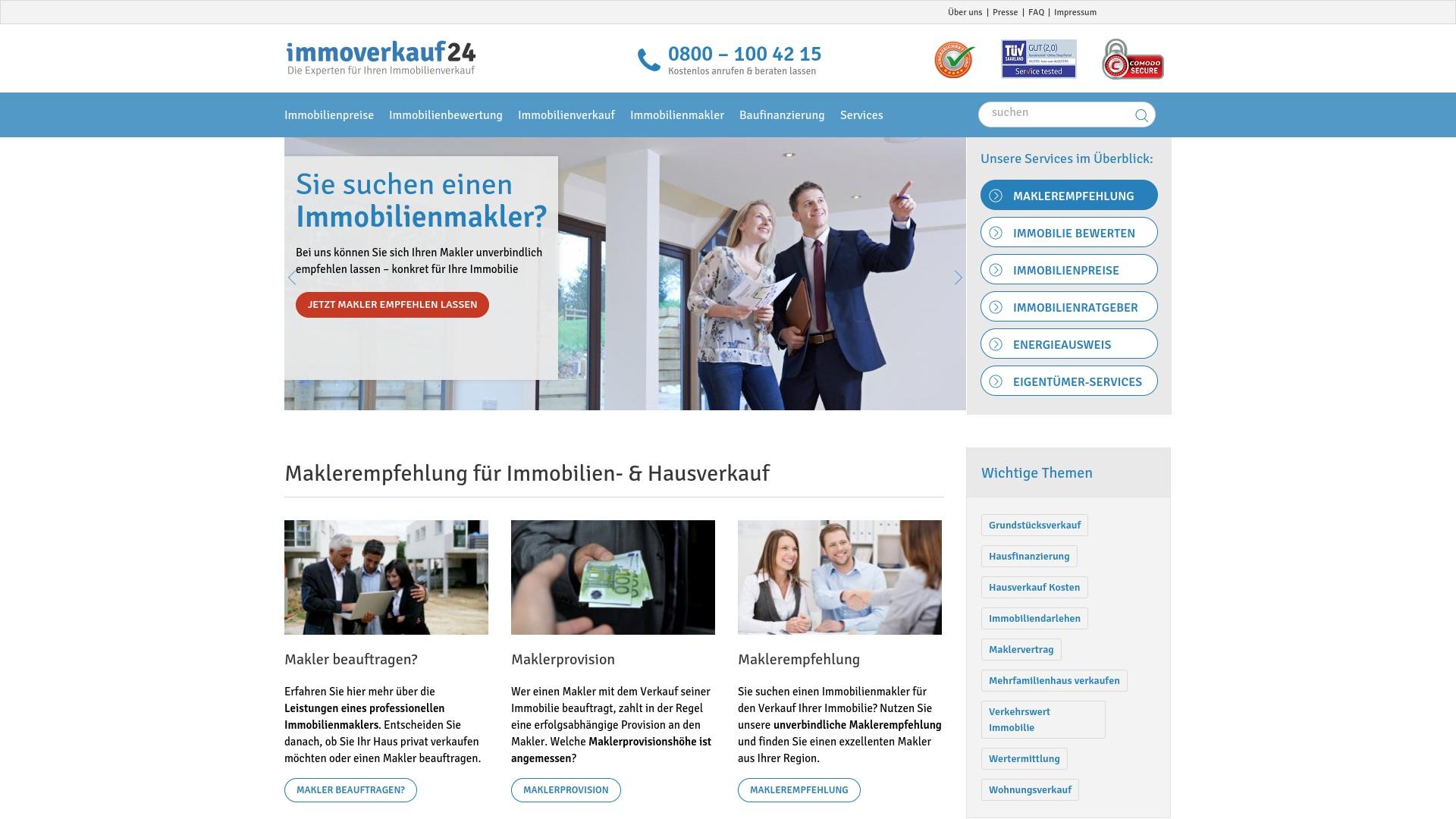 Gutschein für Immoverkauf24: Rabatte für  Immoverkauf24 sichern