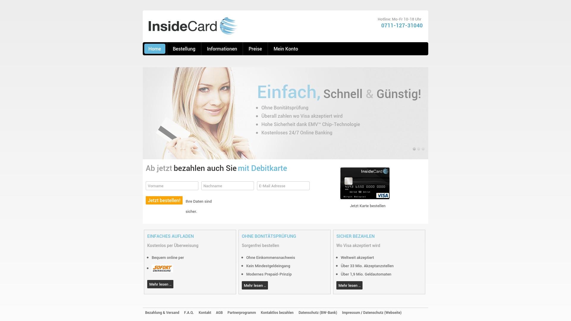 Gutschein für Insidecard: Rabatte für  Insidecard sichern